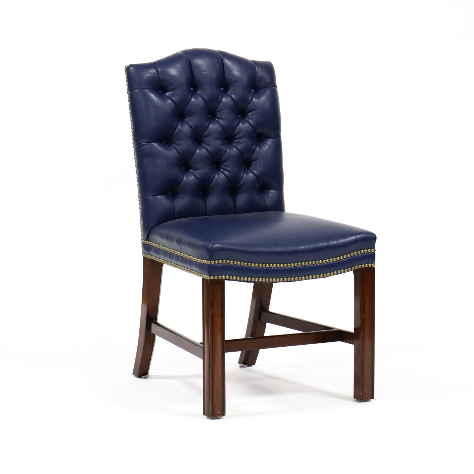 kittinger-chippendale-style-leather-upholstered-chair
