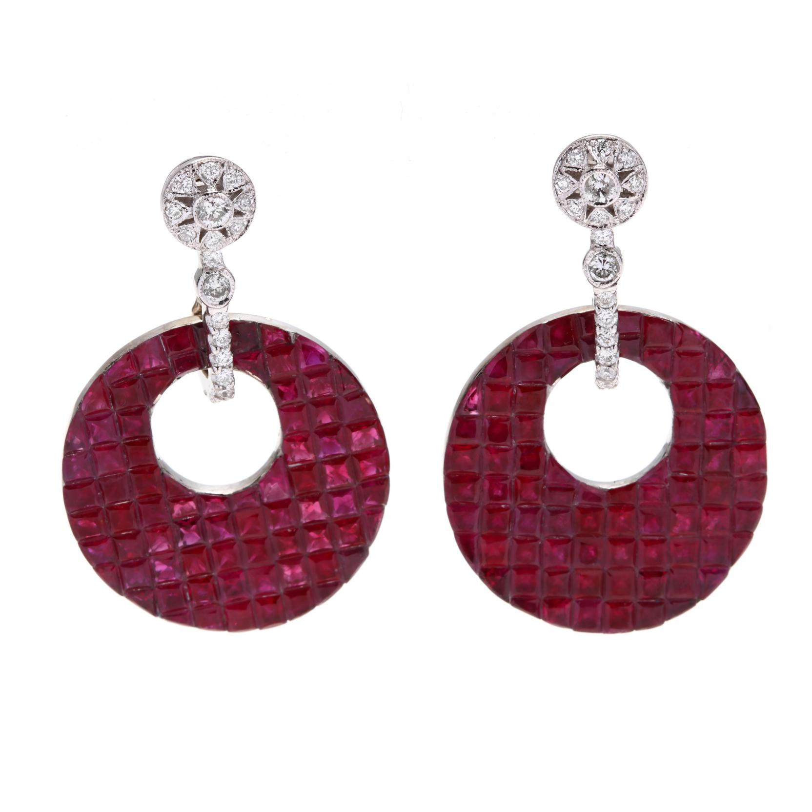 white-gold-ruby-and-diamond-drop-earrings