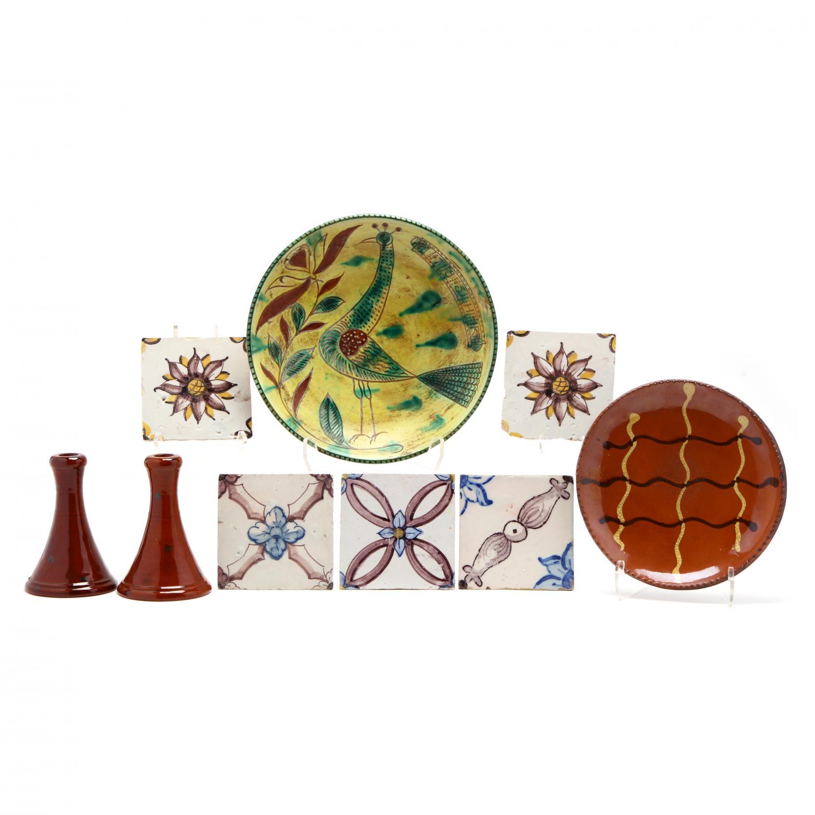 glaze-decorated-pottery-grouping