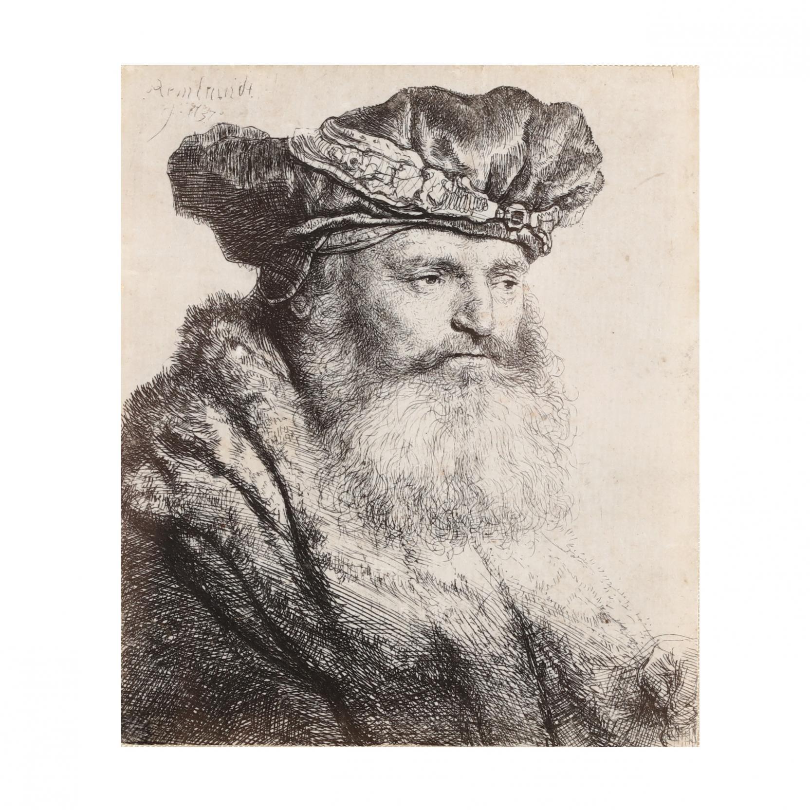 rembrandt-van-rijn-dutch-1606-1669-i-bearded-man-in-a-velvet-cap-with-a-jewel-clasp-i