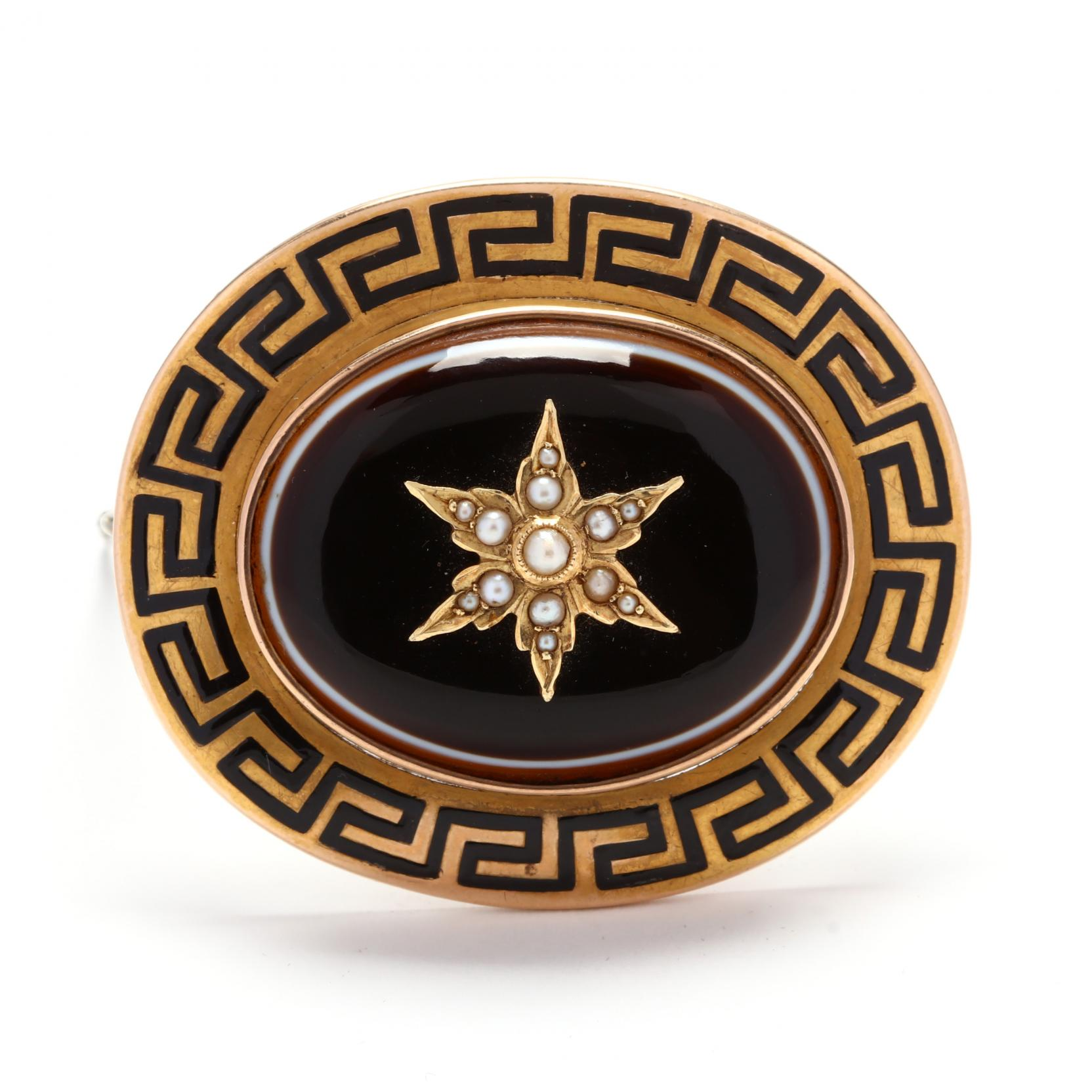 victorian-gold-banded-agate-and-pearl-brooch