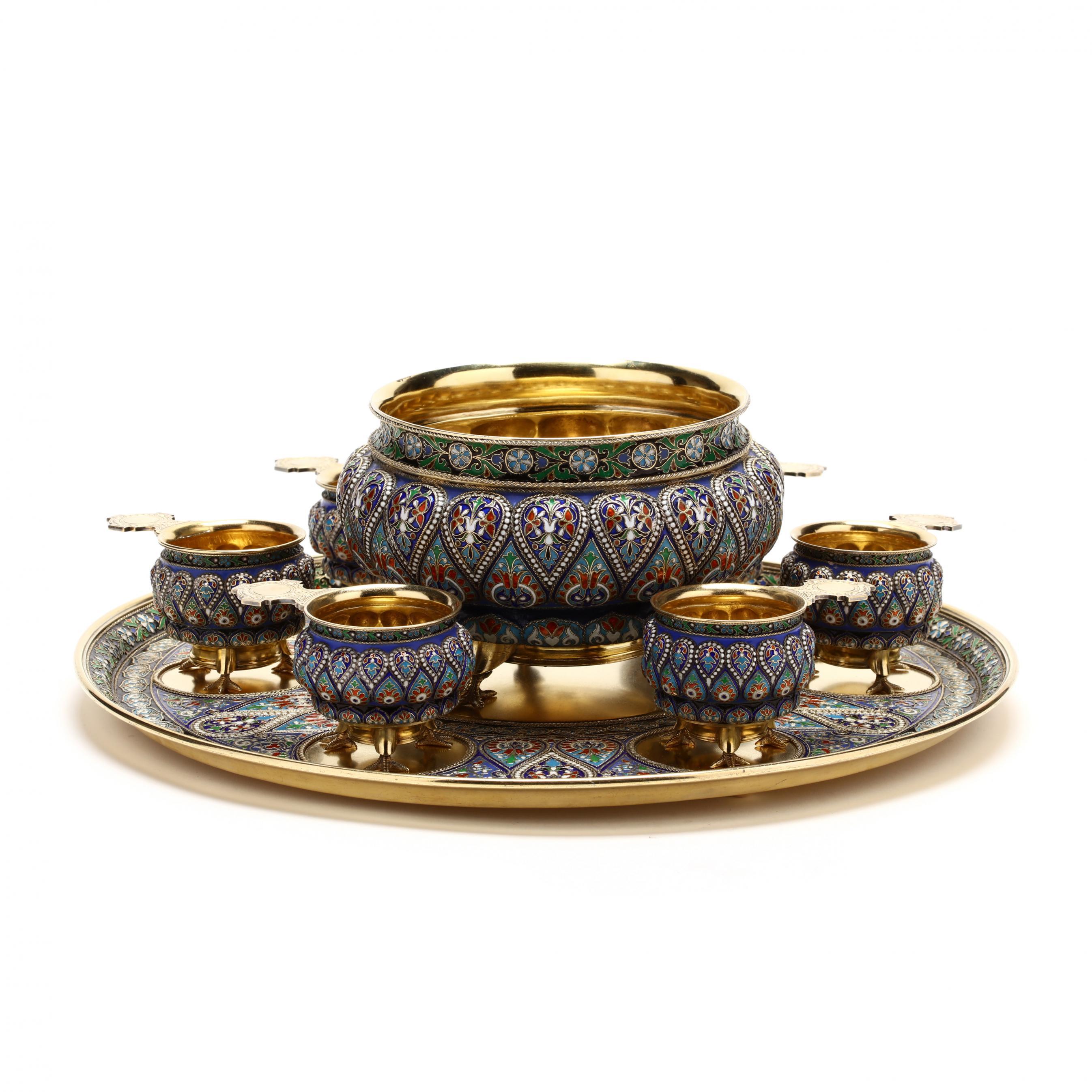 a-silver-gilt-and-cloisonne-enamel-punch-set-ivan-khlebnikov