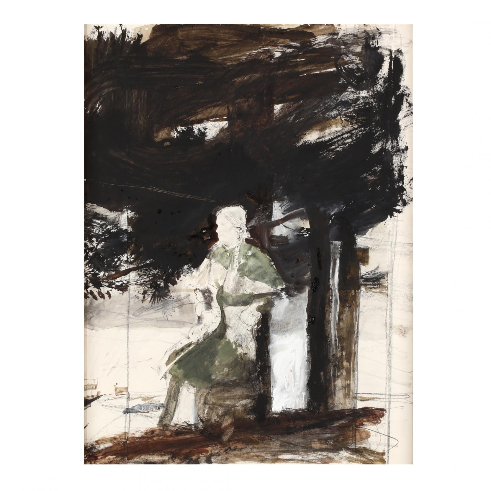 andrew-wyeth-pa-1917-2009-i-cape-coat-helga-i
