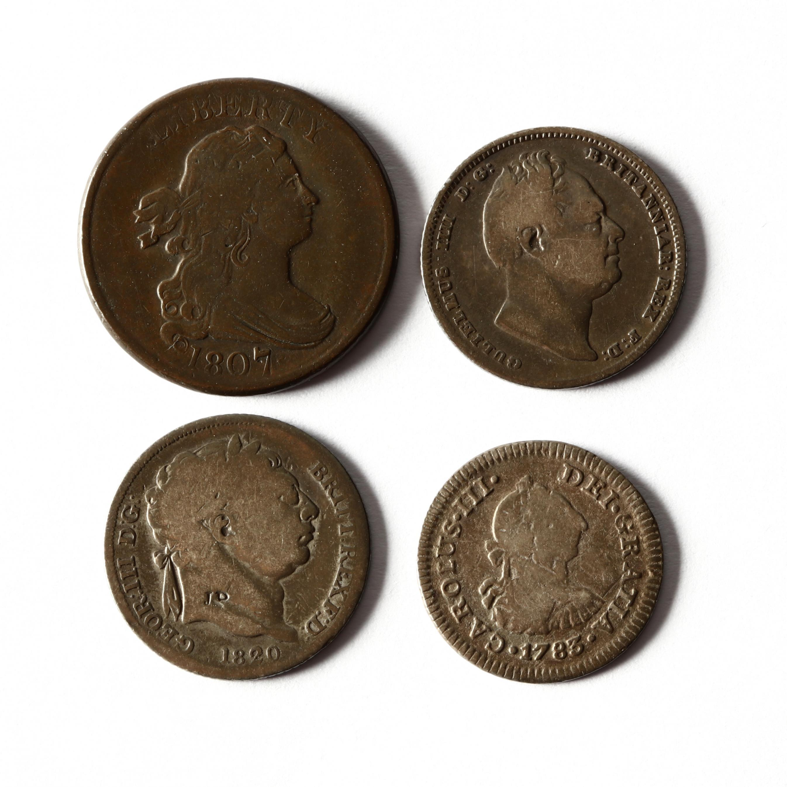 1807-draped-bust-half-cent-with-three-world-silver-minors