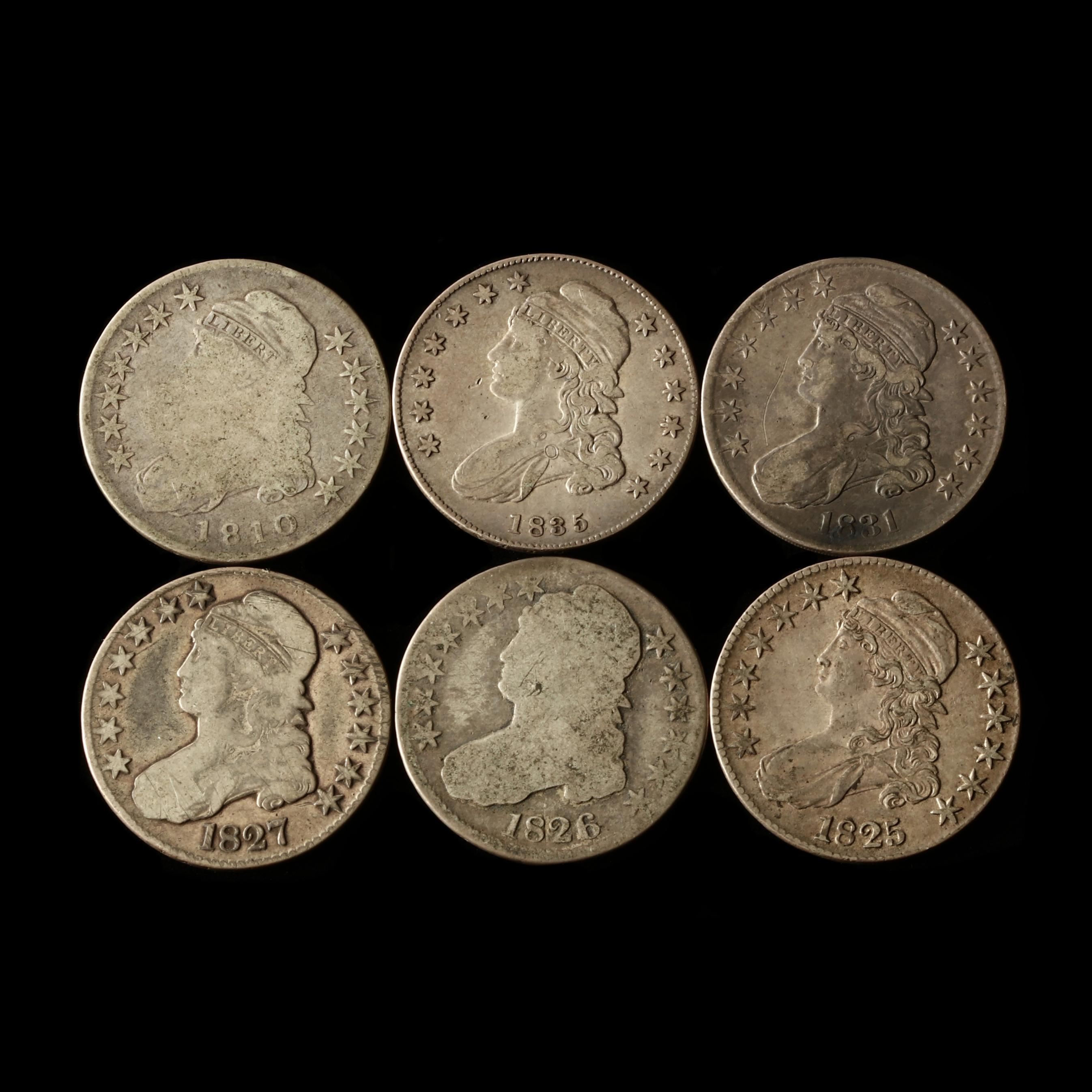 six-capped-bust-half-dollars