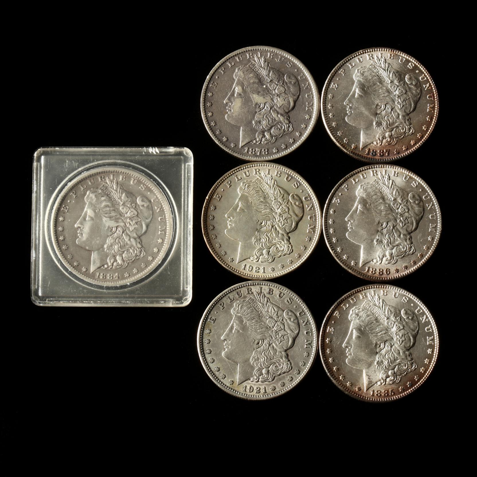 seven-morgan-silver-dollars