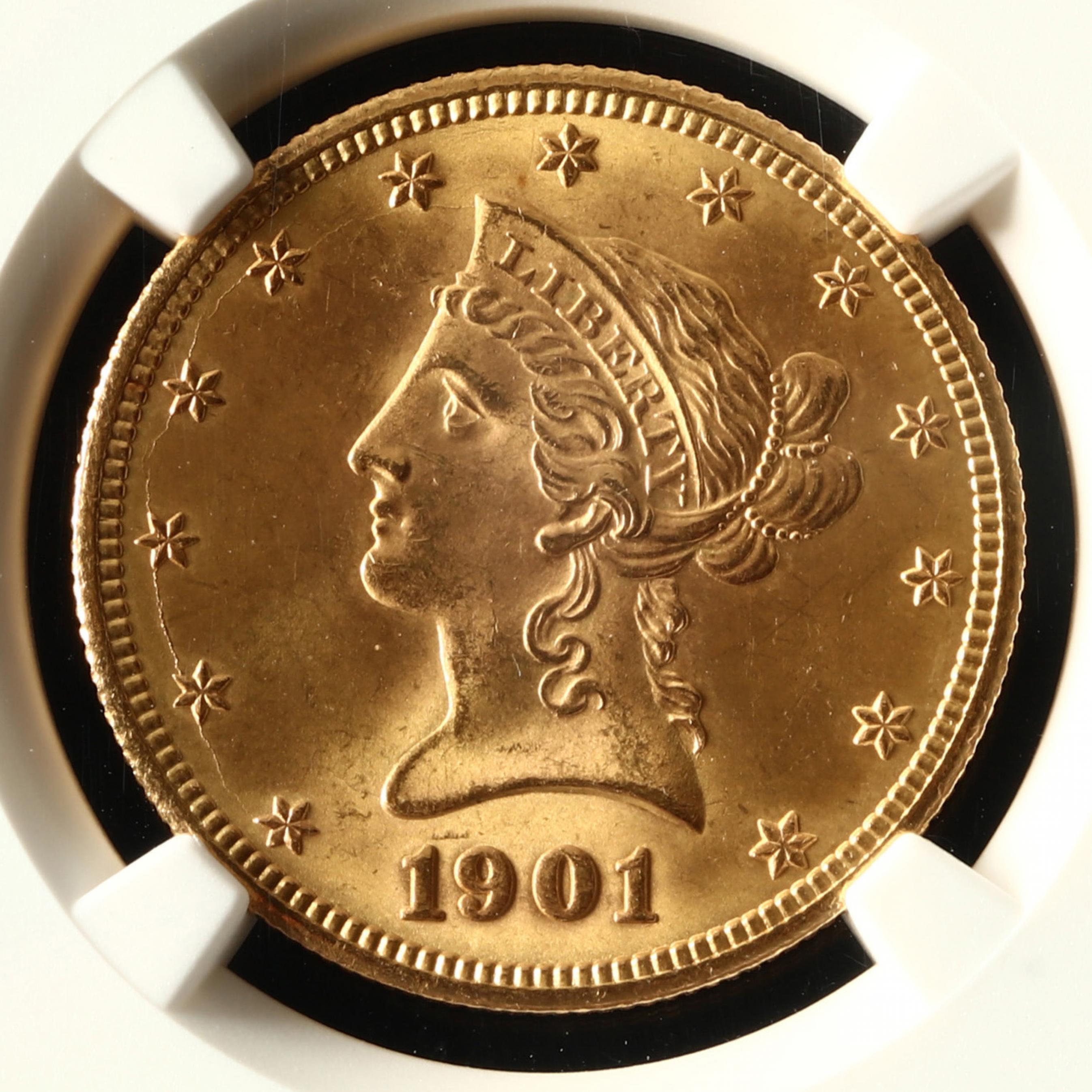 1901-s-10-liberty-head-gold-eagle-ngc-ms65
