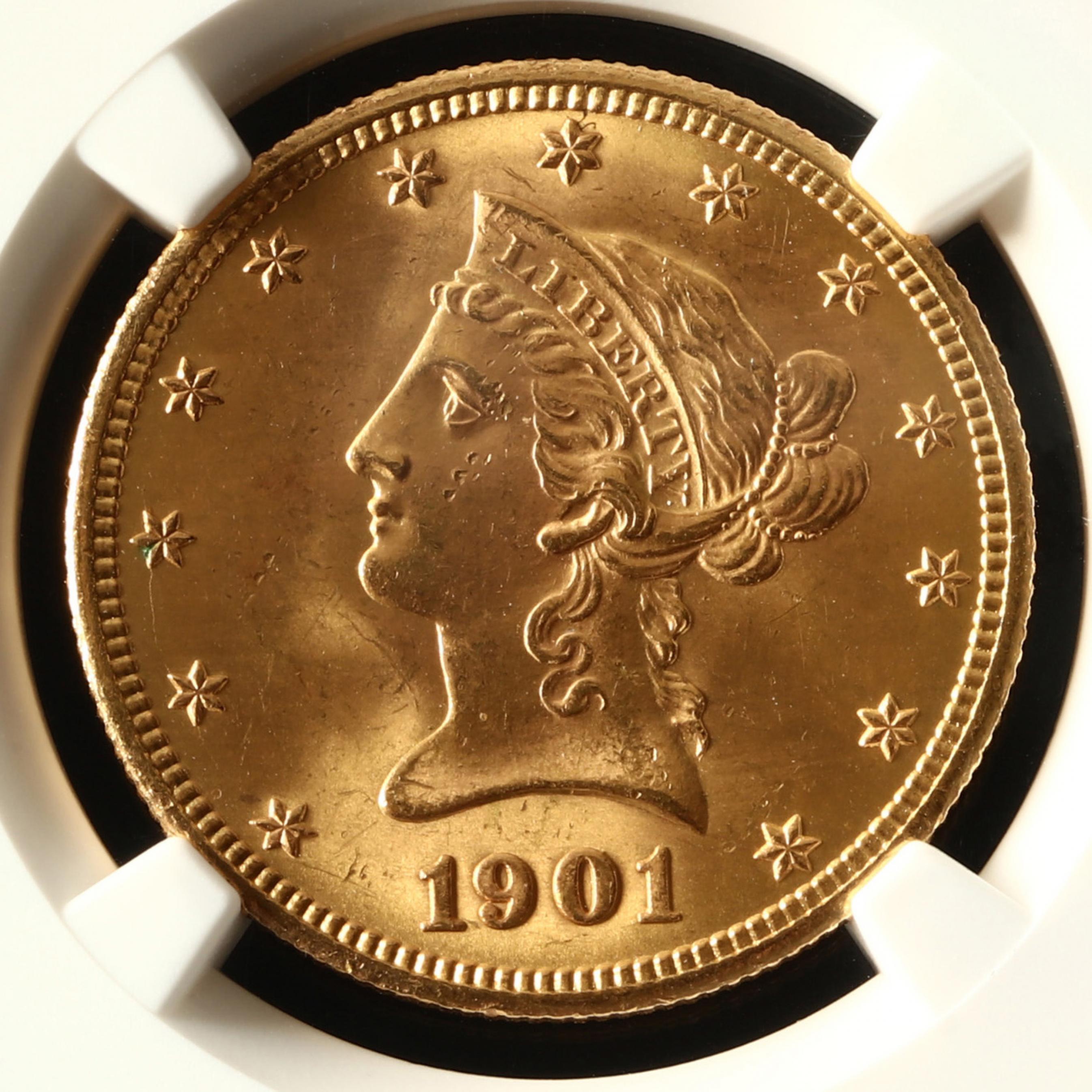 1901-s-10-liberty-head-gold-eagle-ngc-ms64