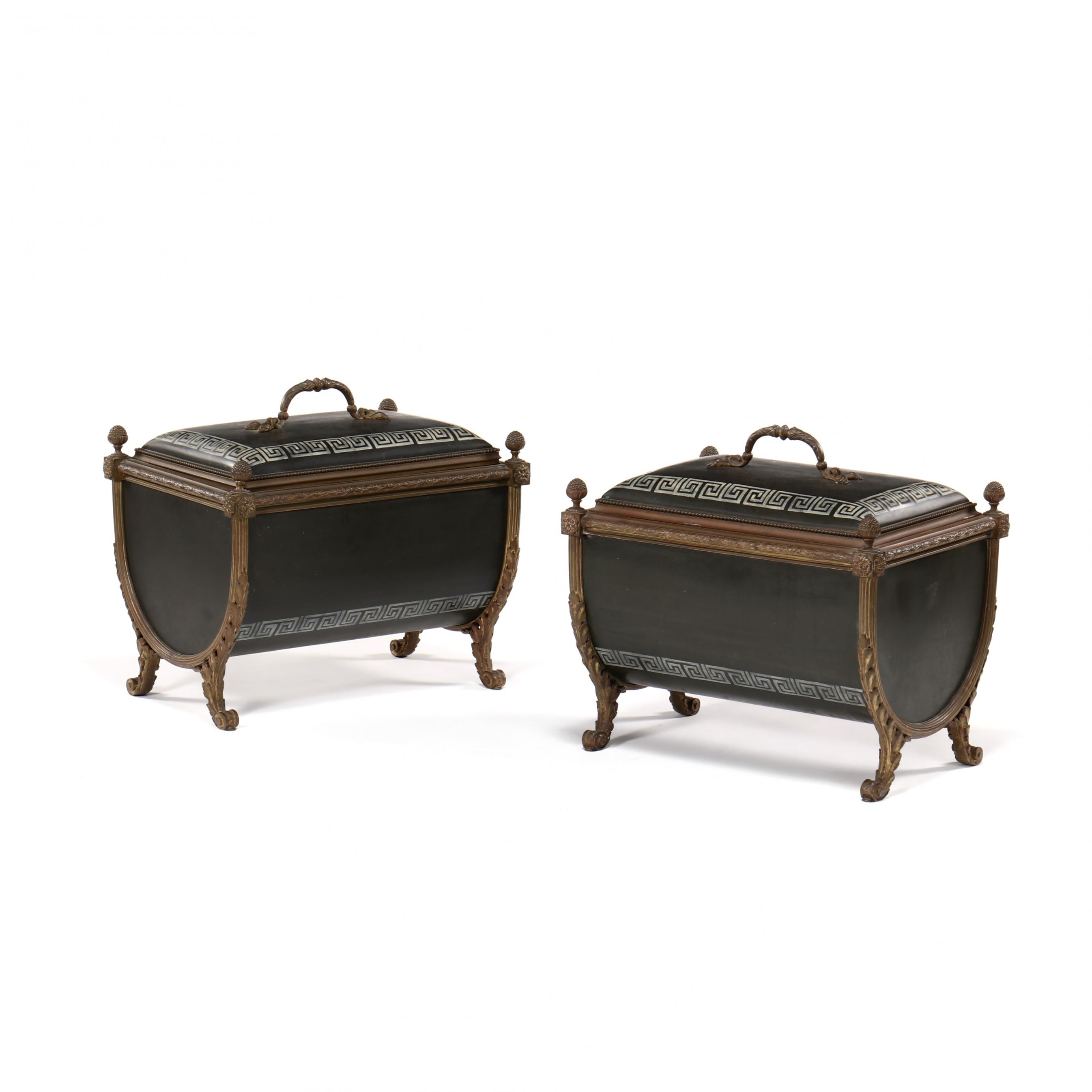 pair-of-neoclassical-style-painted-bronze-coal-scuttles