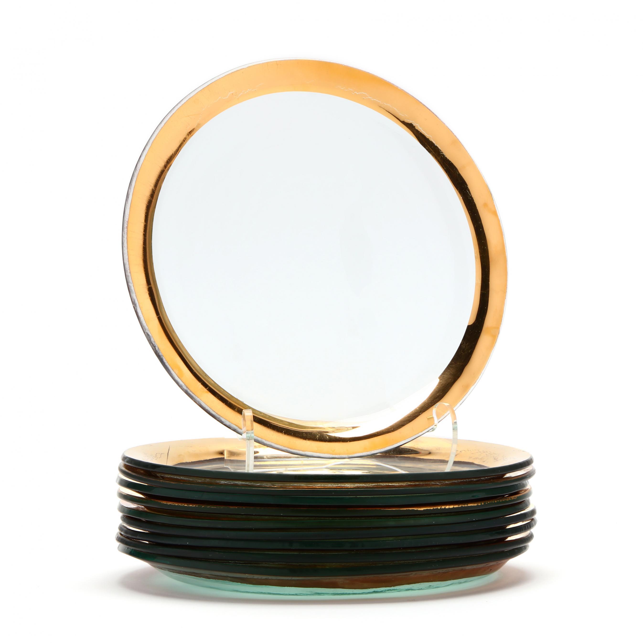 annie-glass-ca-set-of-ten-gilt-glass-plates