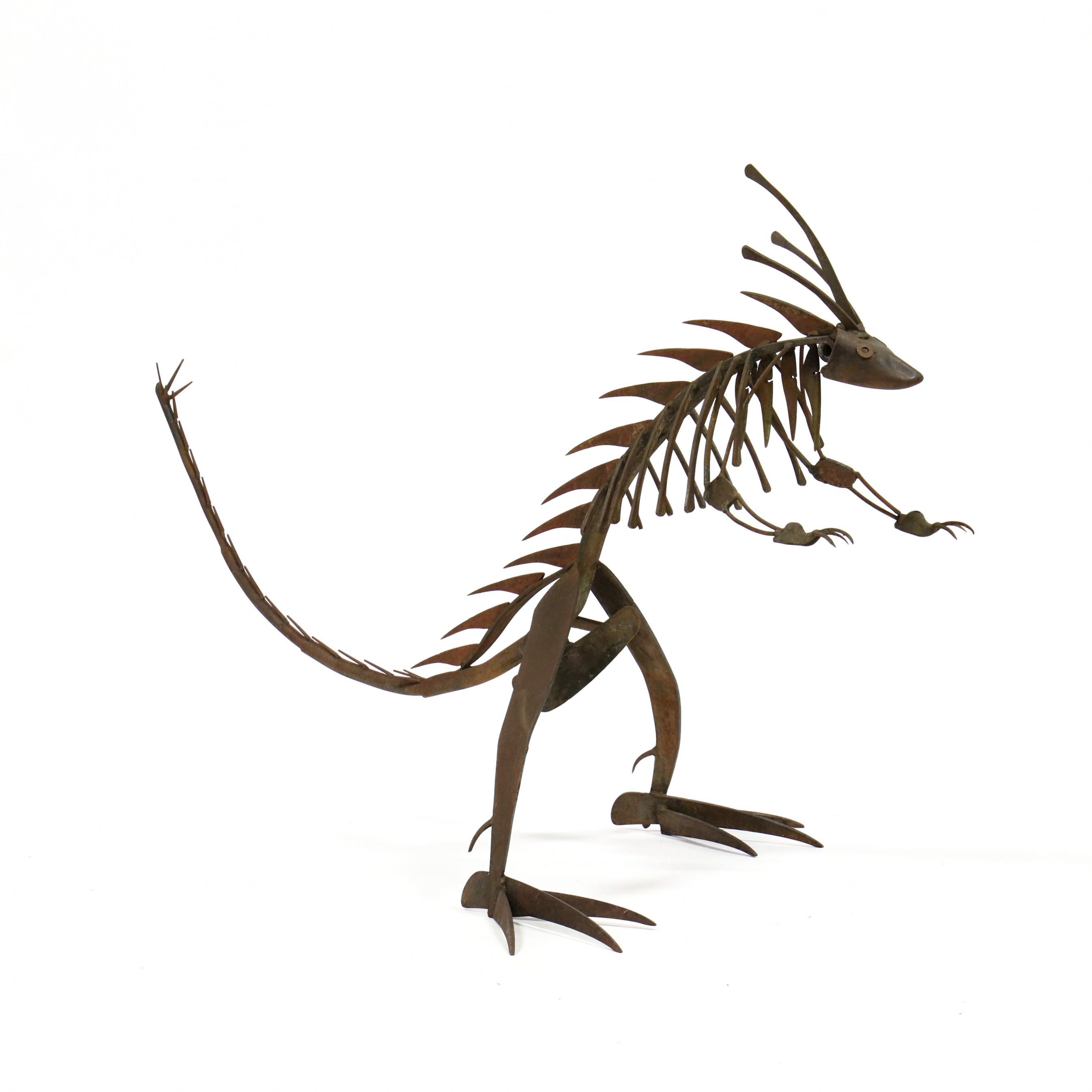 iron-lizard-sculpture