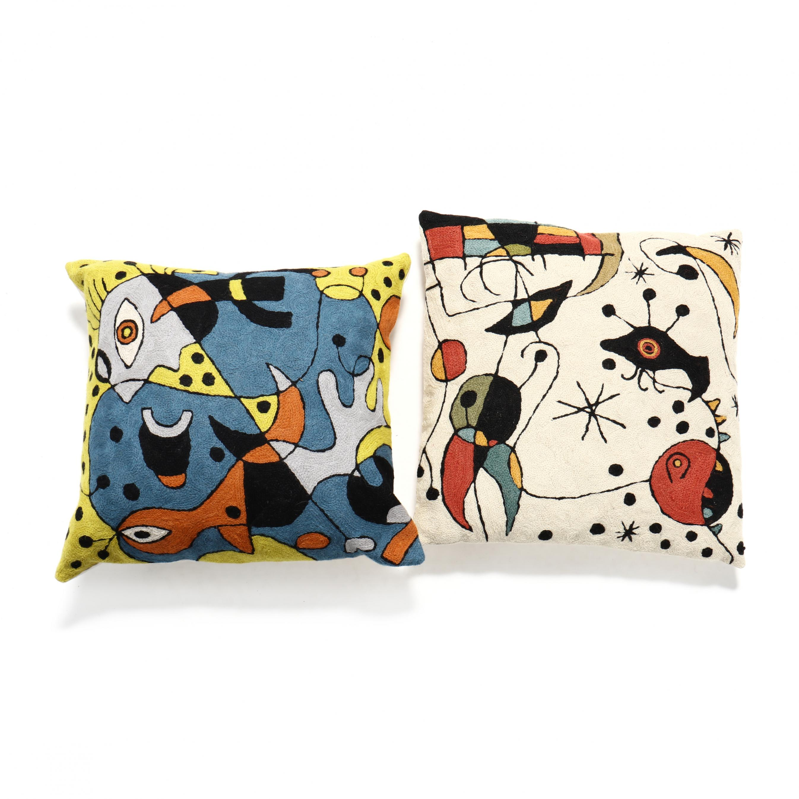 two-woven-pillows-after-joan-miro
