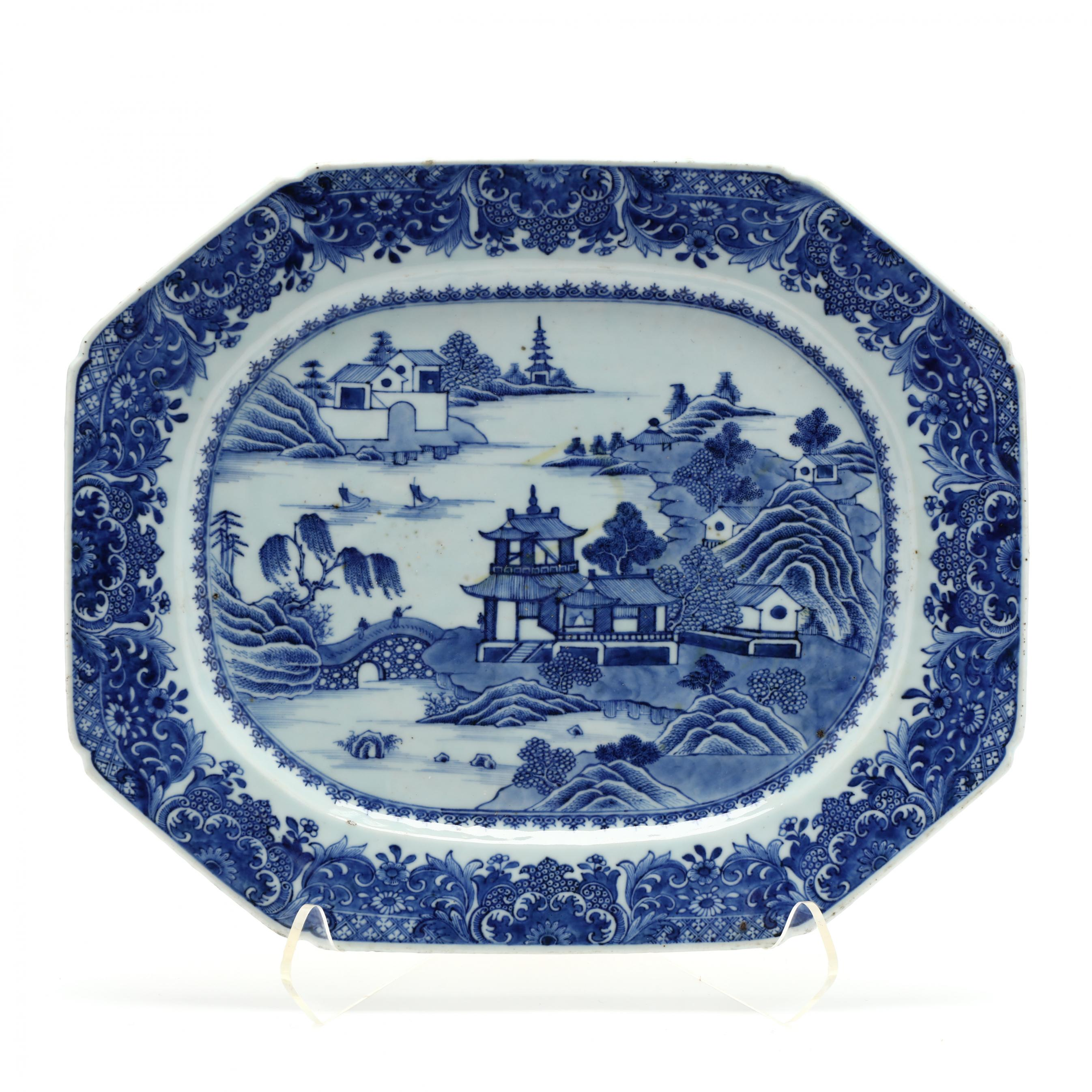 large-antique-chinese-export-porcelain-platter
