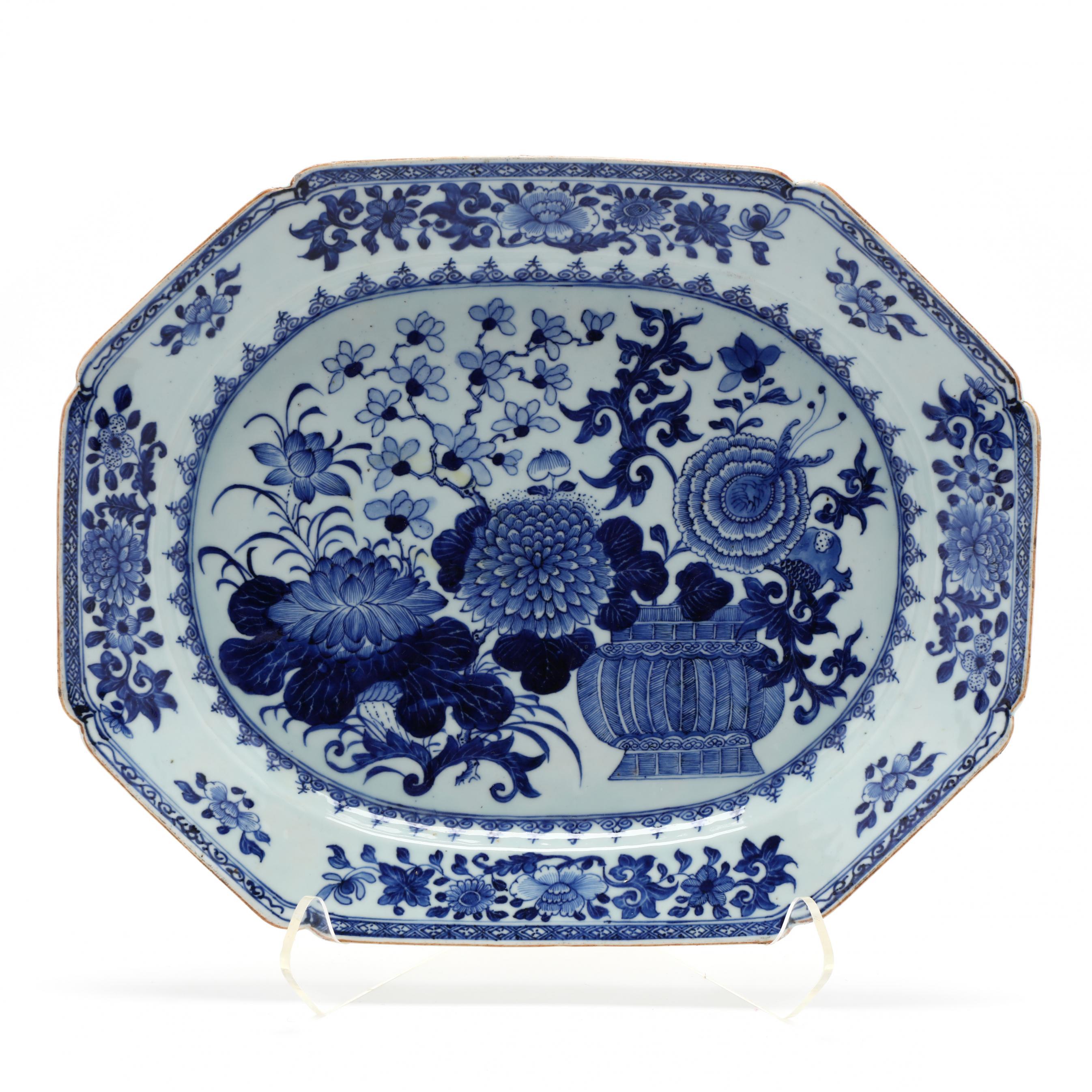 large-antique-chinese-export-porcelain-platter
