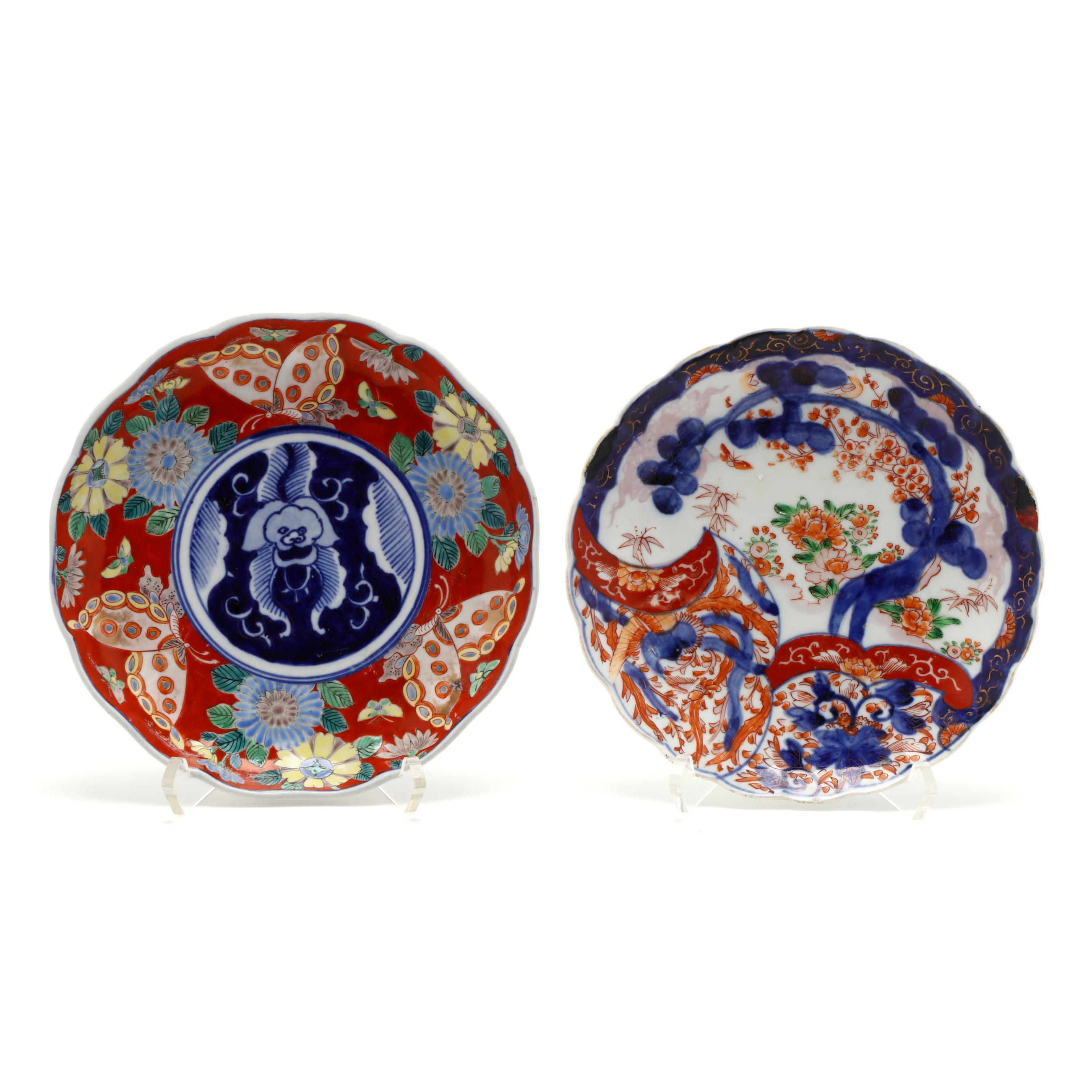 two-japanese-imari-porcelain-dishes