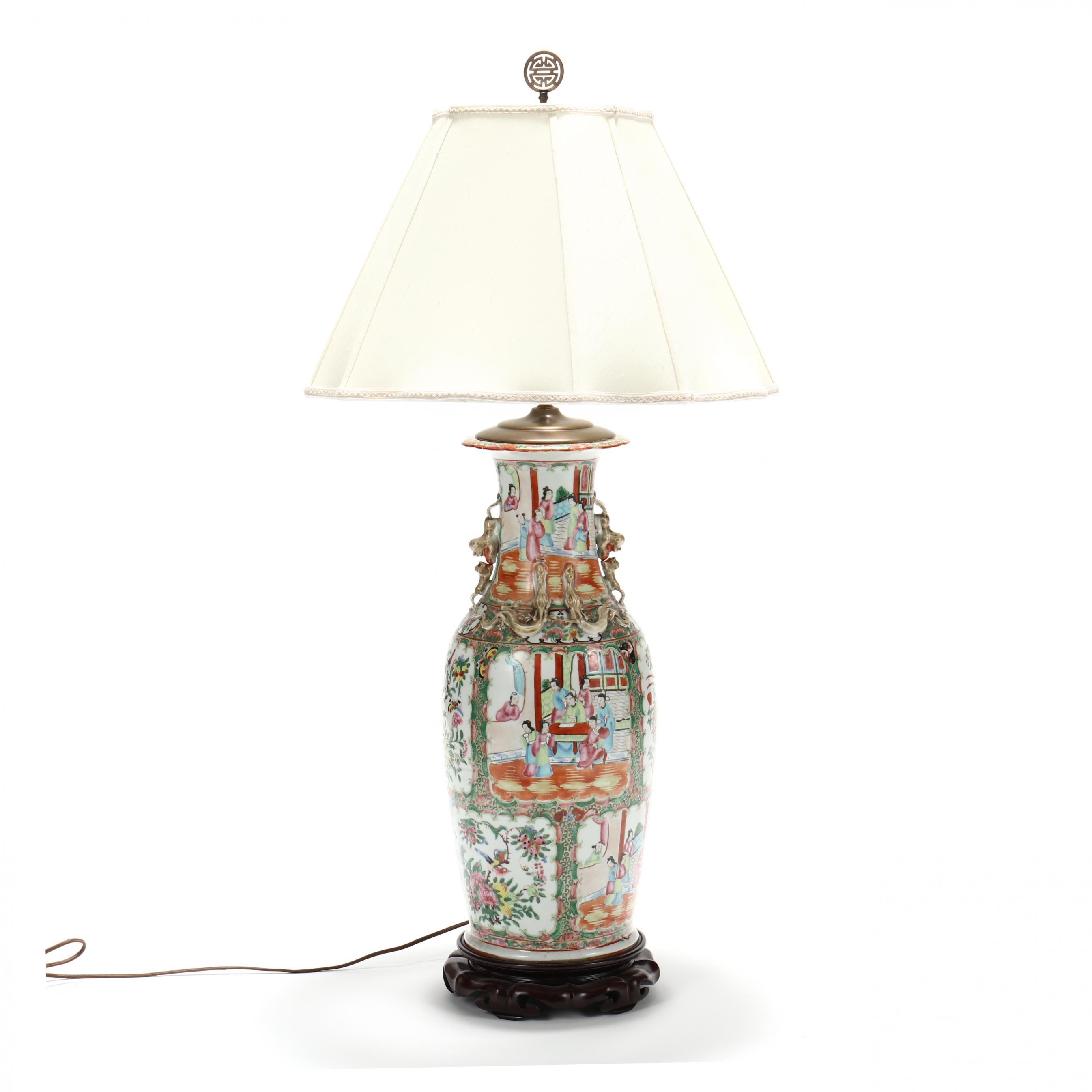 large-i-famille-rose-i-porcelain-table-lamp