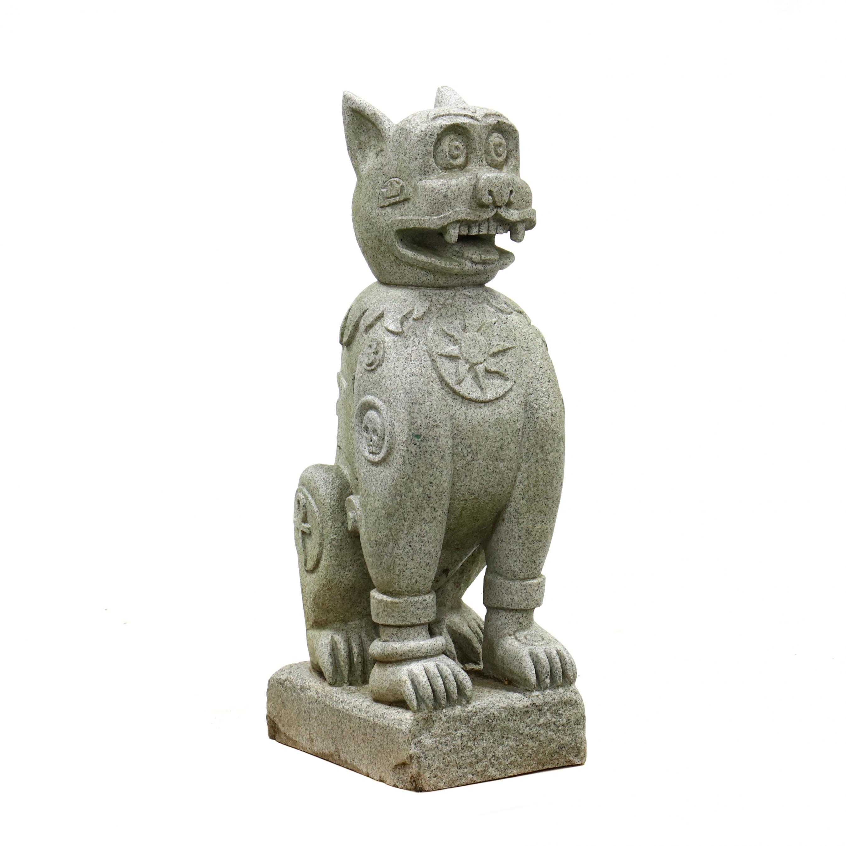 contemporary-carved-granite-guardian-lion