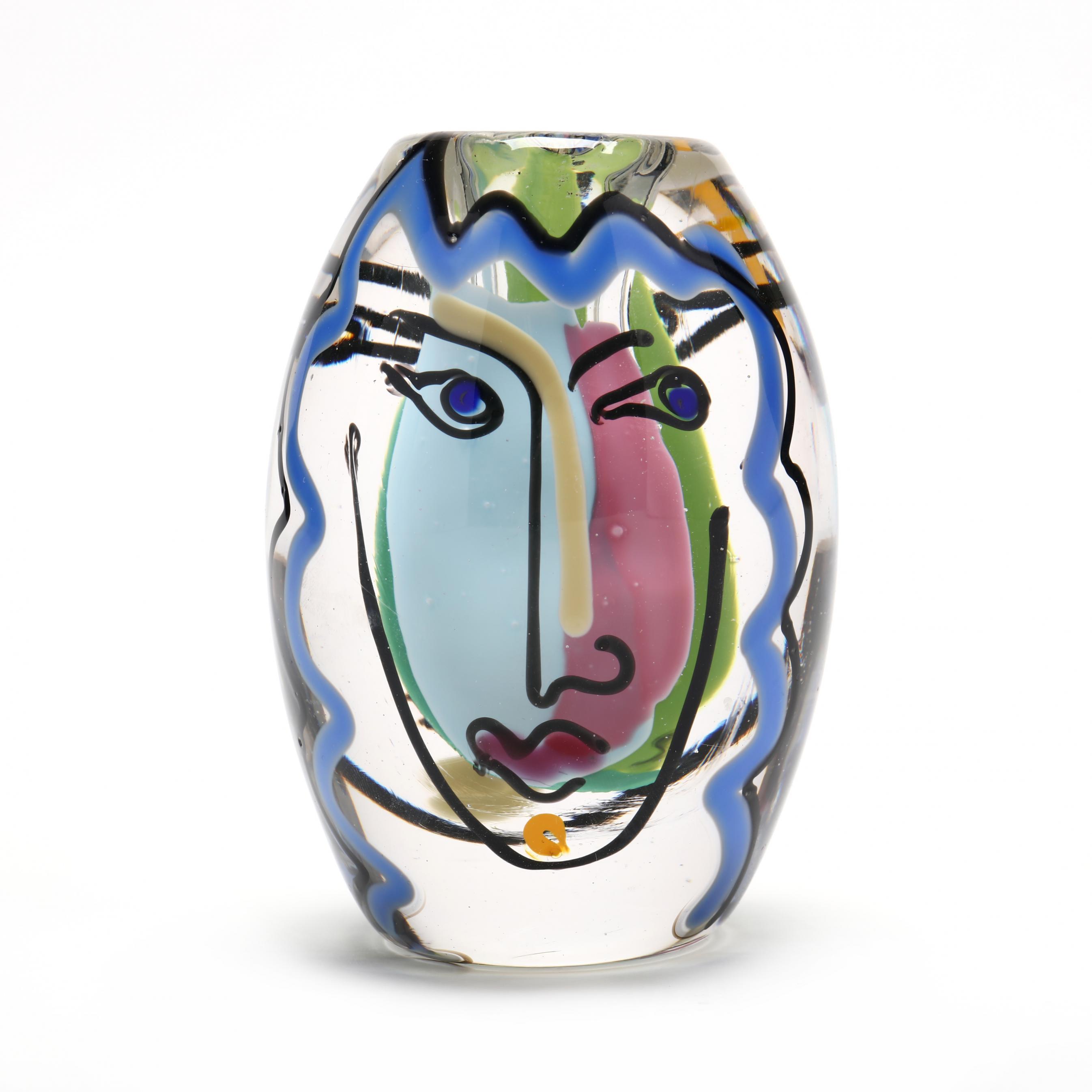 bernstein-nc-small-glass-face-vase