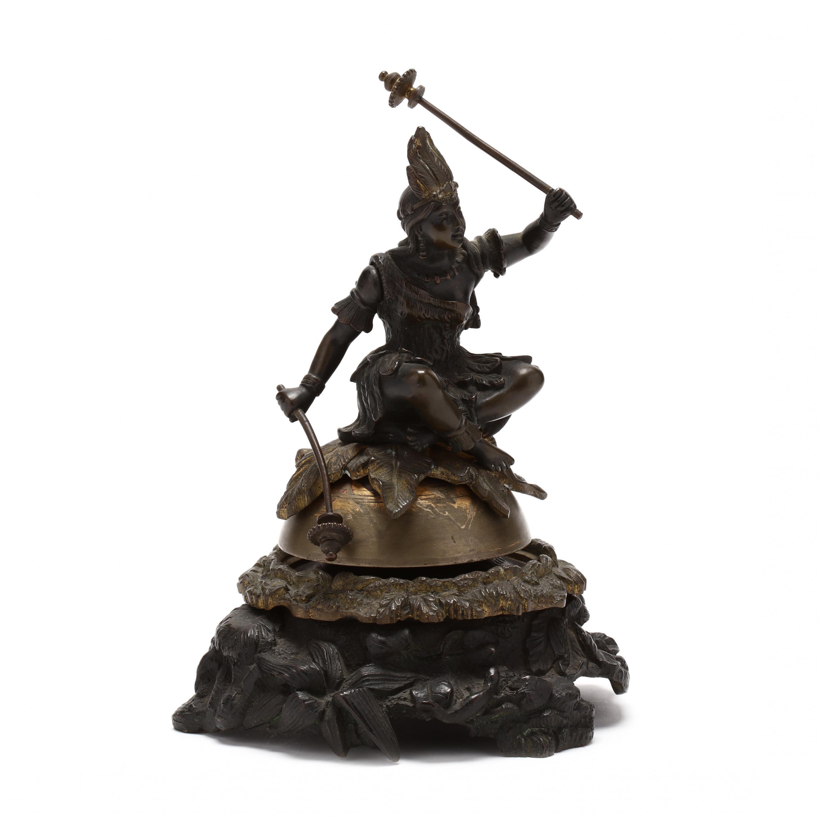 antique-figural-bronze-dinner-bell