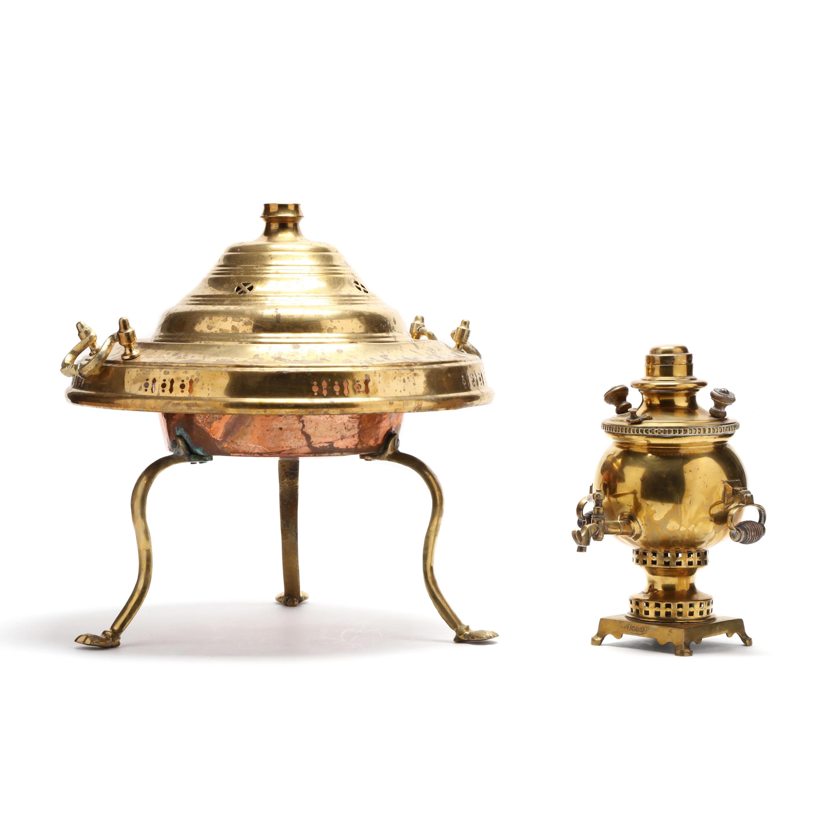 antique-brass-samovar-and-lidded-censer