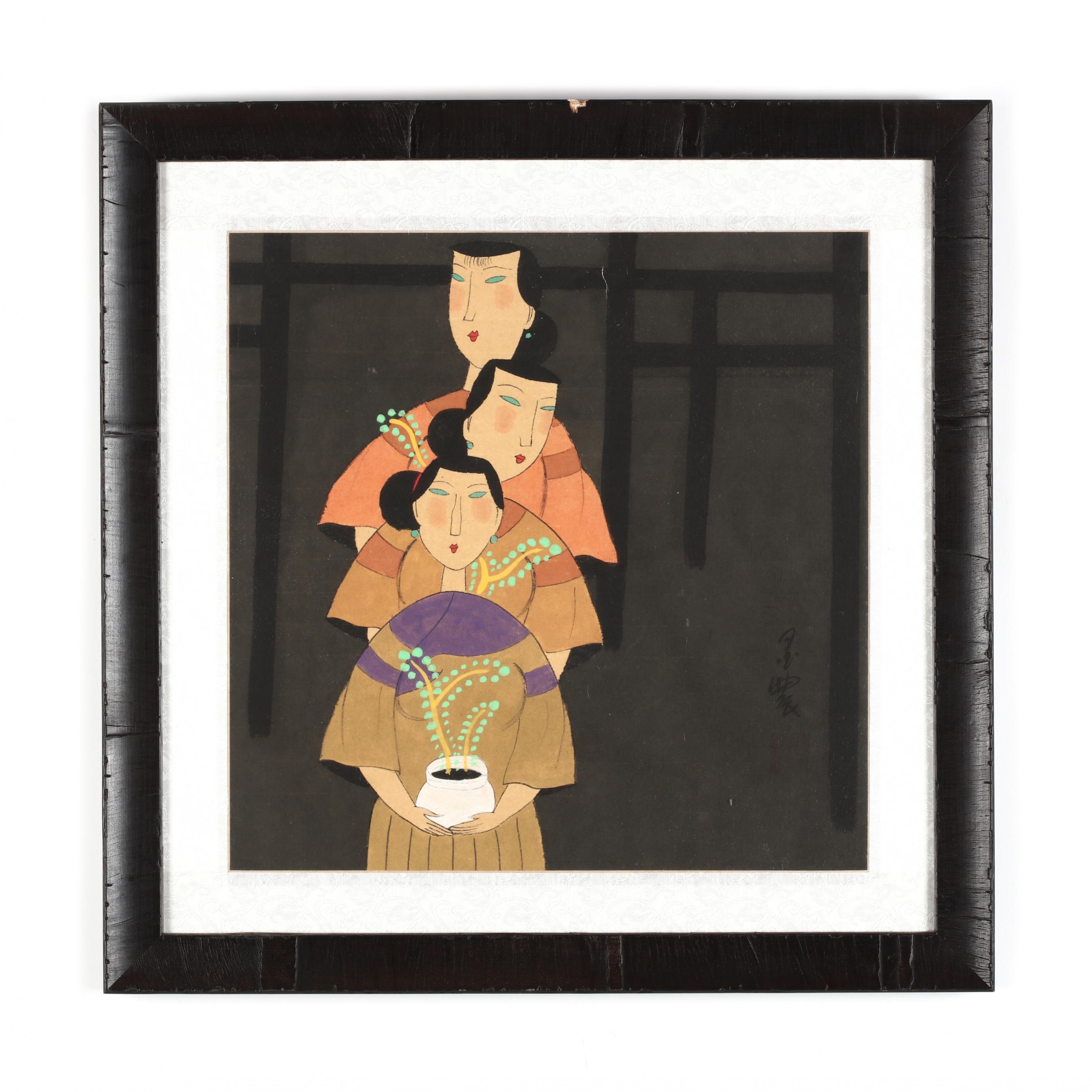 a-print-of-three-chinese-ladies