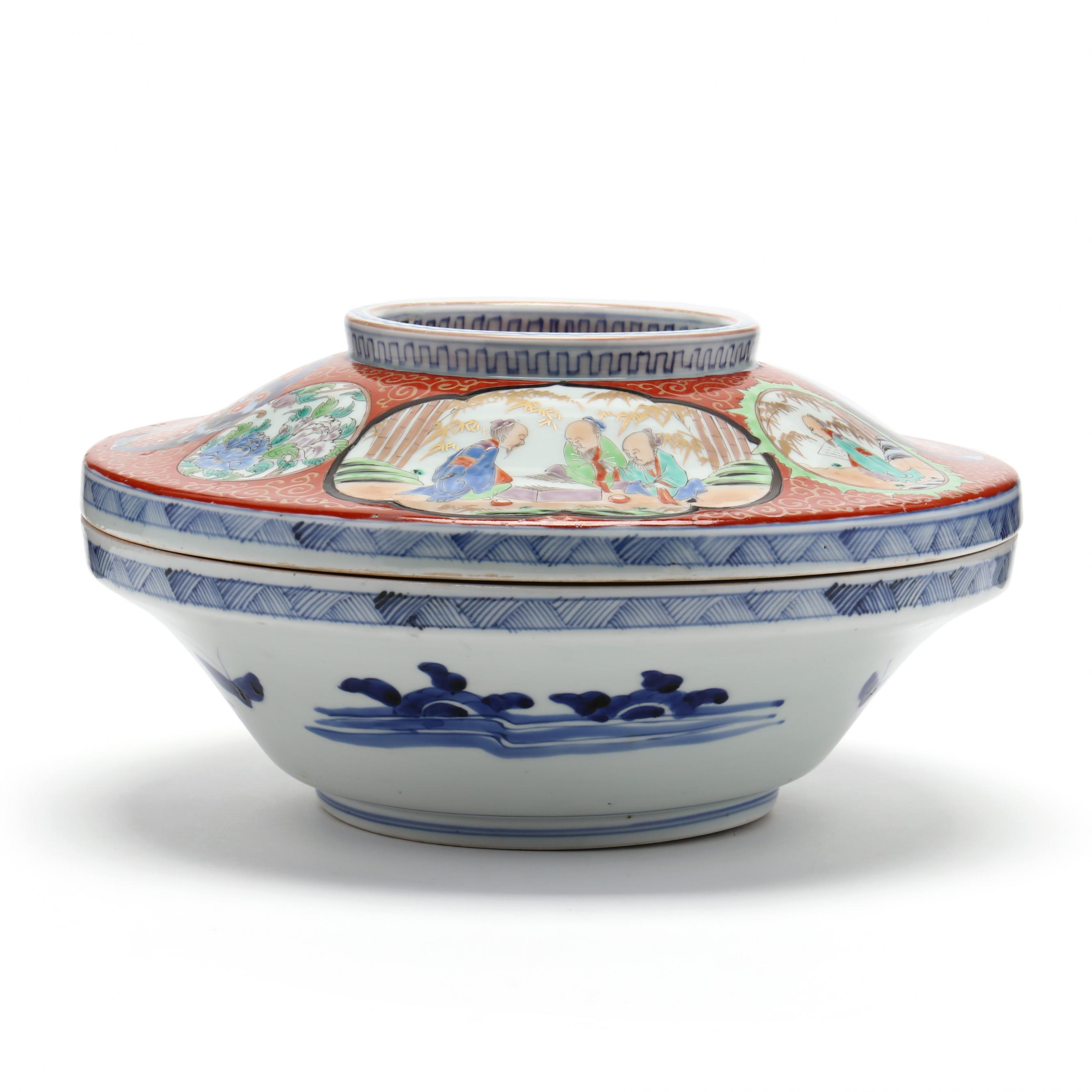 a-large-japanese-imari-covered-bowl