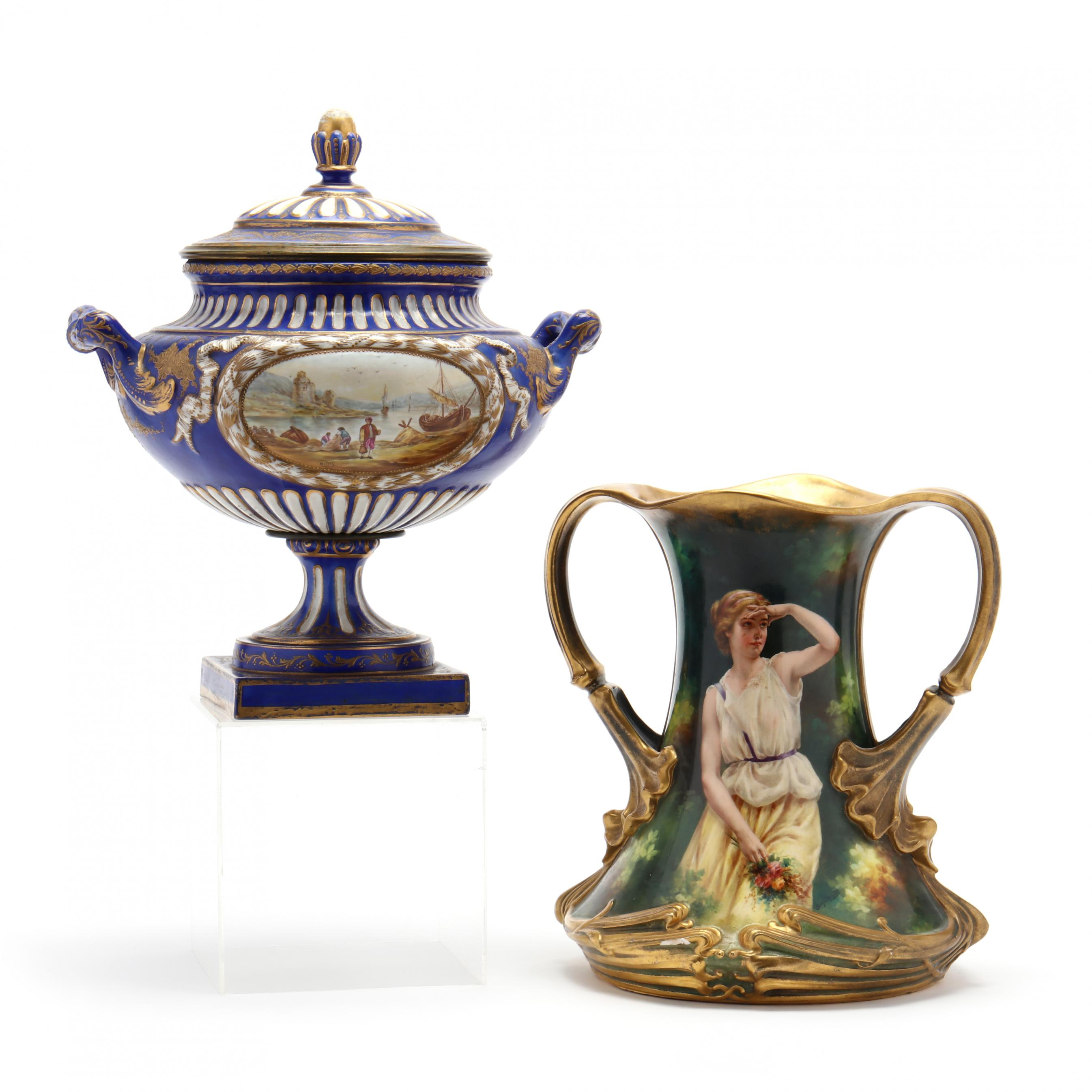 two-continental-porcelain-items