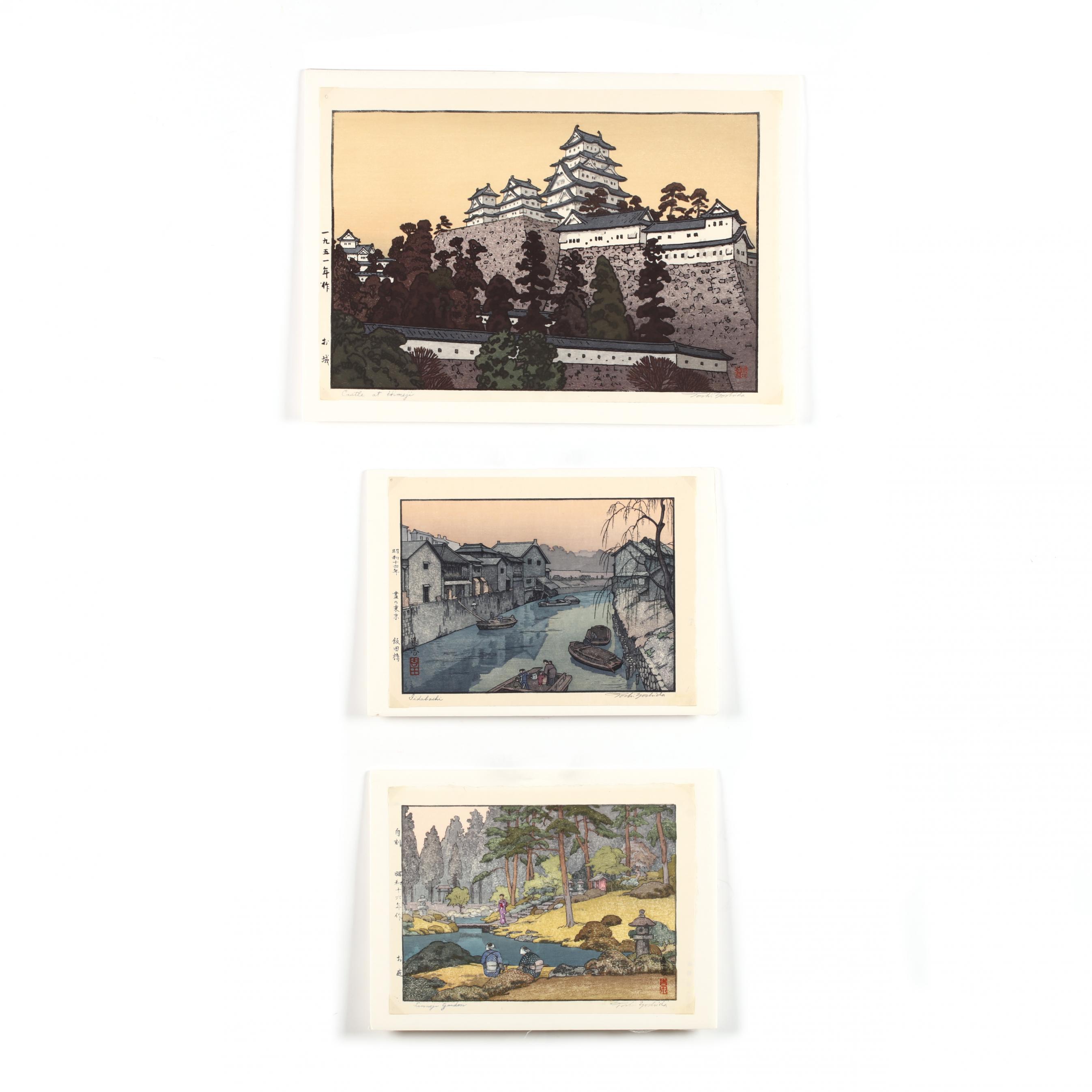 yoshida-toshi-japanese-1911-1995-three-woodblock-prints