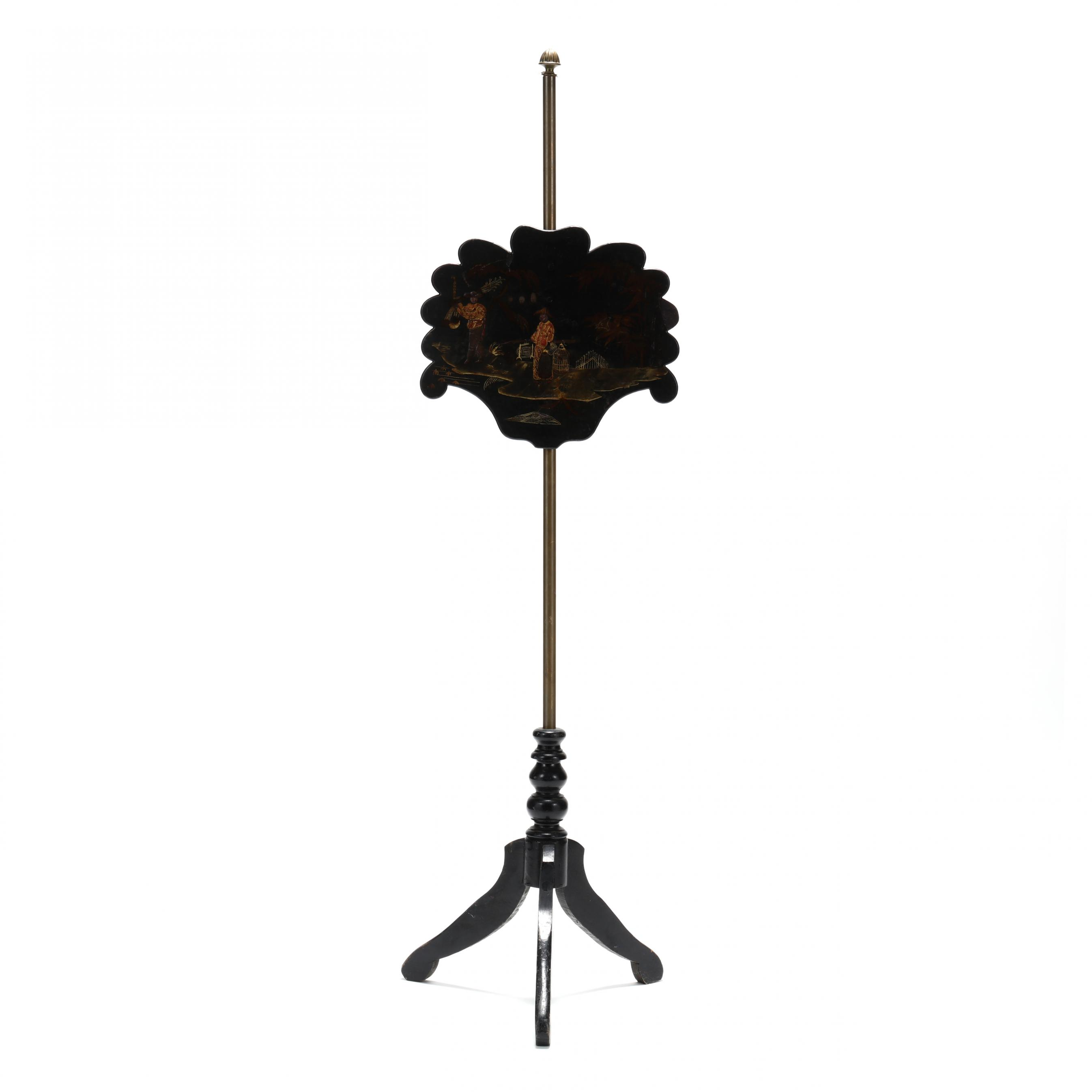 antique-english-chinoiserie-pole-screen