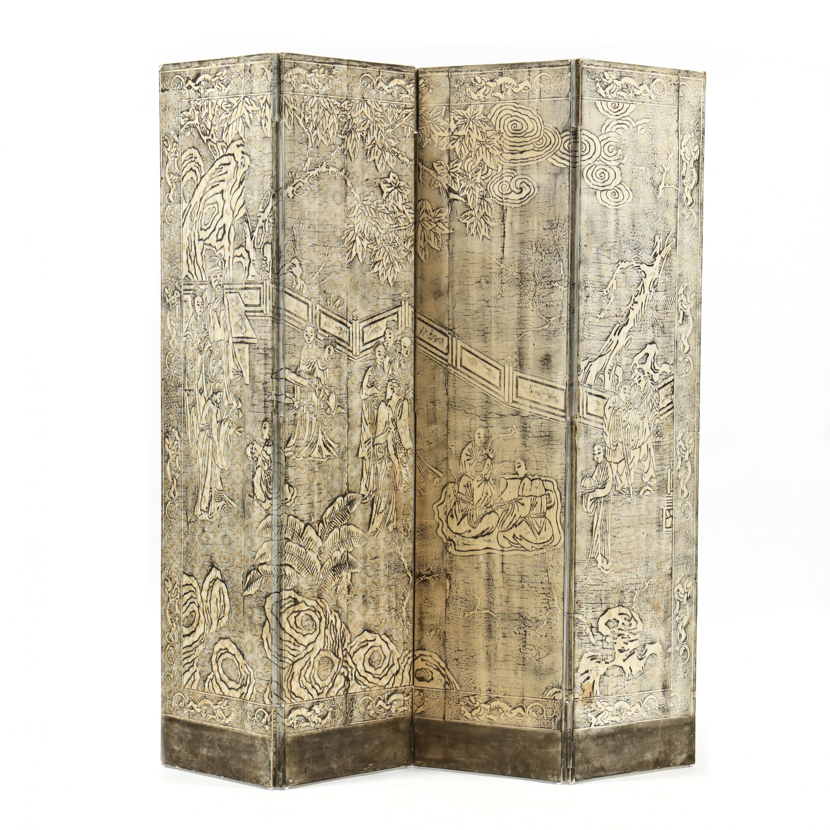 decorative-chinese-double-sided-four-panel-floor-screen