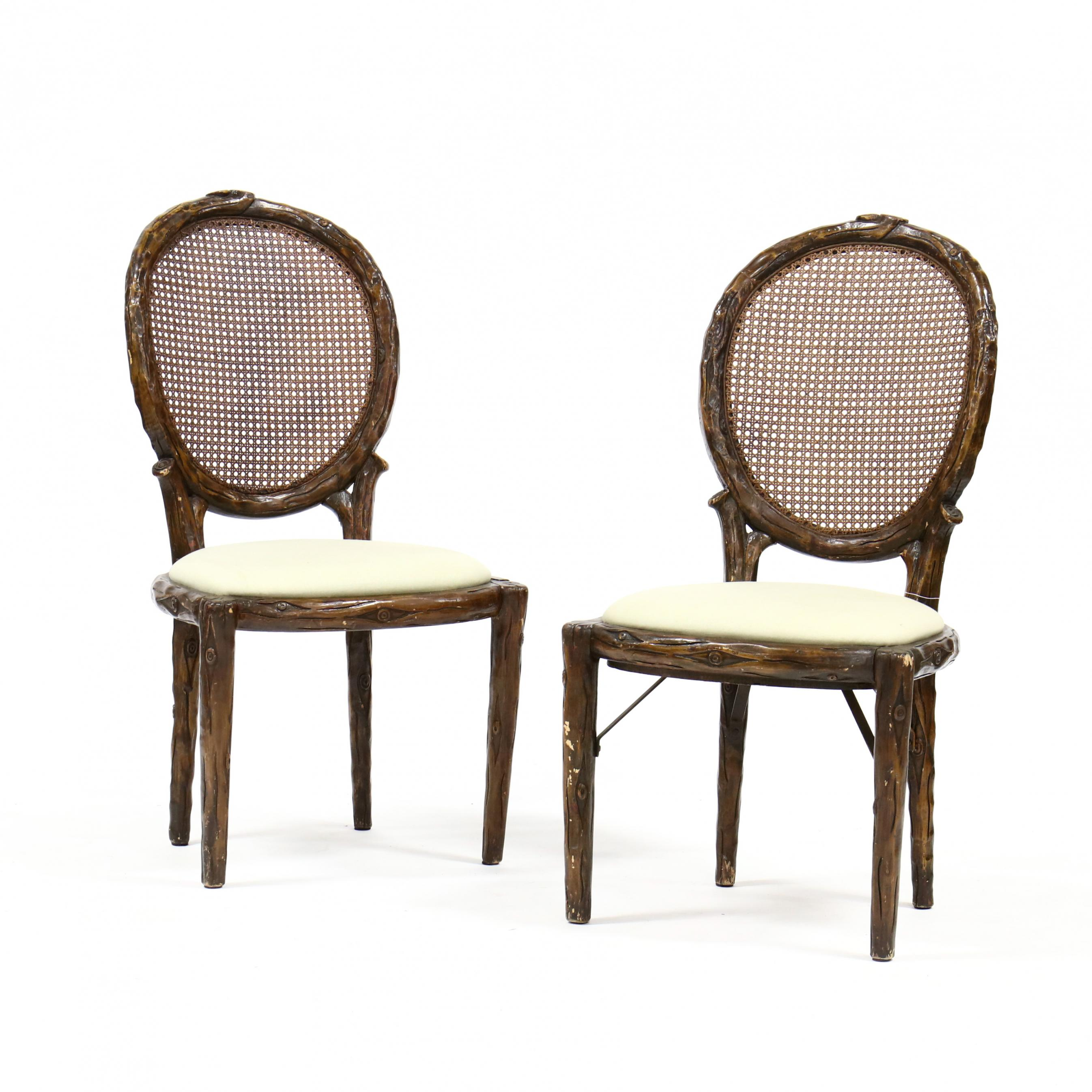 pair-of-faux-bois-carved-and-painted-side-chairs