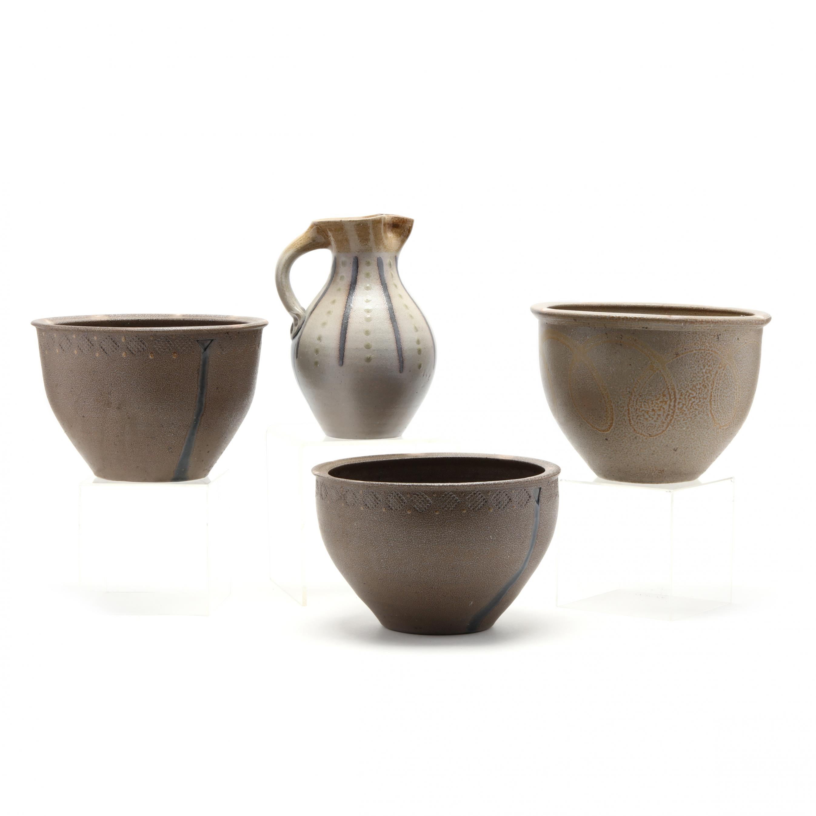 four-nc-pottery-items-by-mark-hewitt-pottery