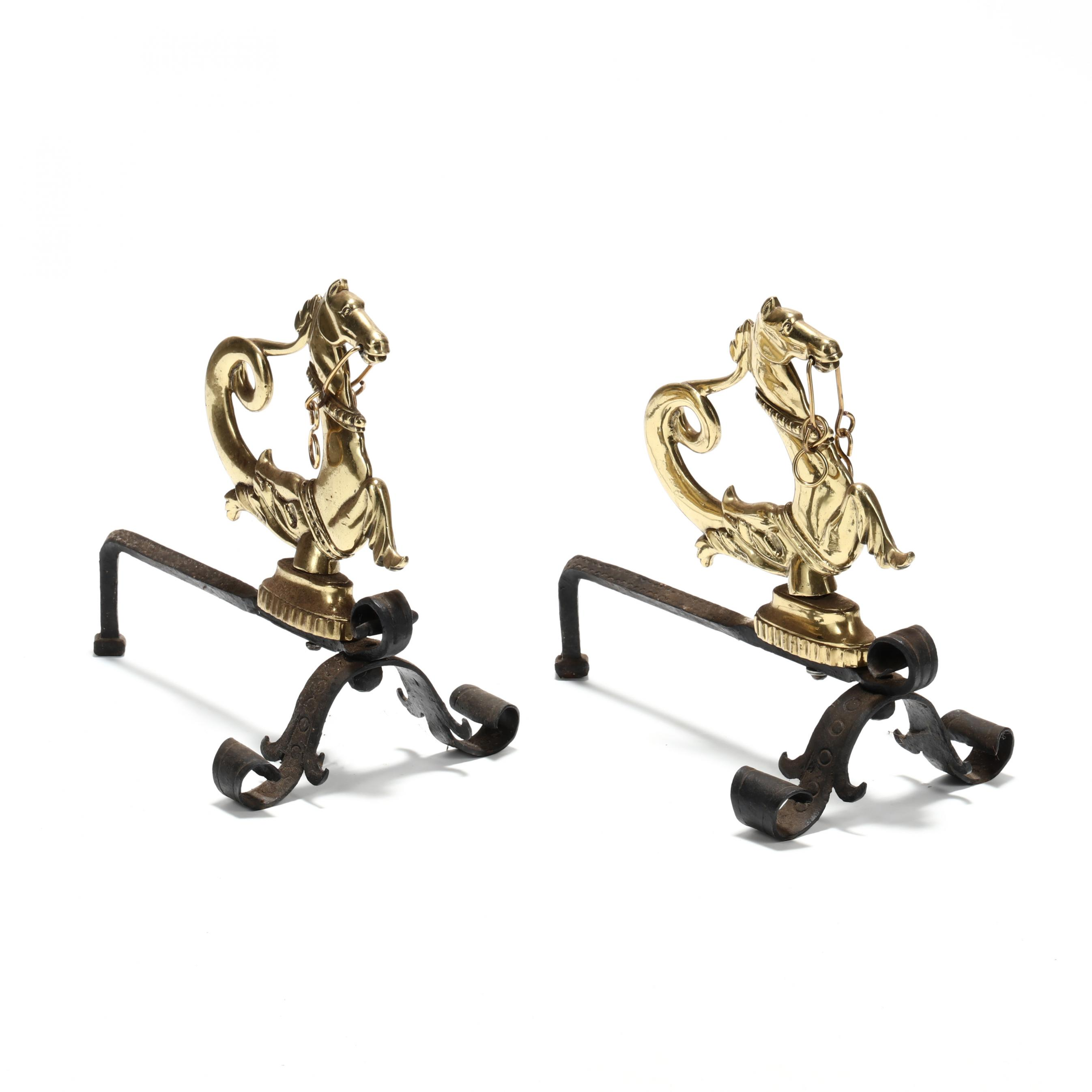pair-of-hippocampus-form-brass-andirons