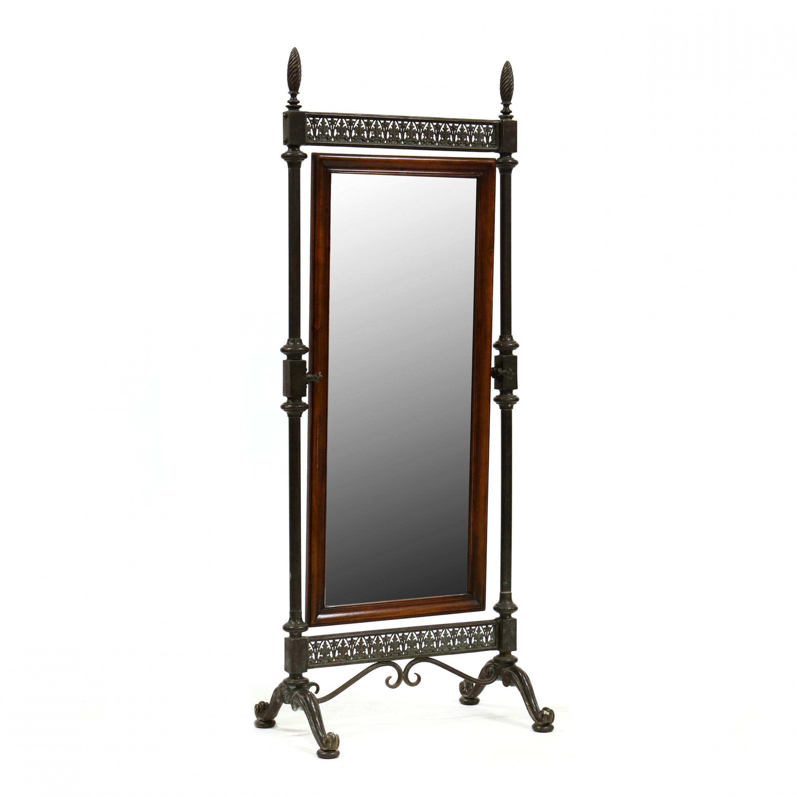 continental-bronze-and-mahogany-cheval-mirror