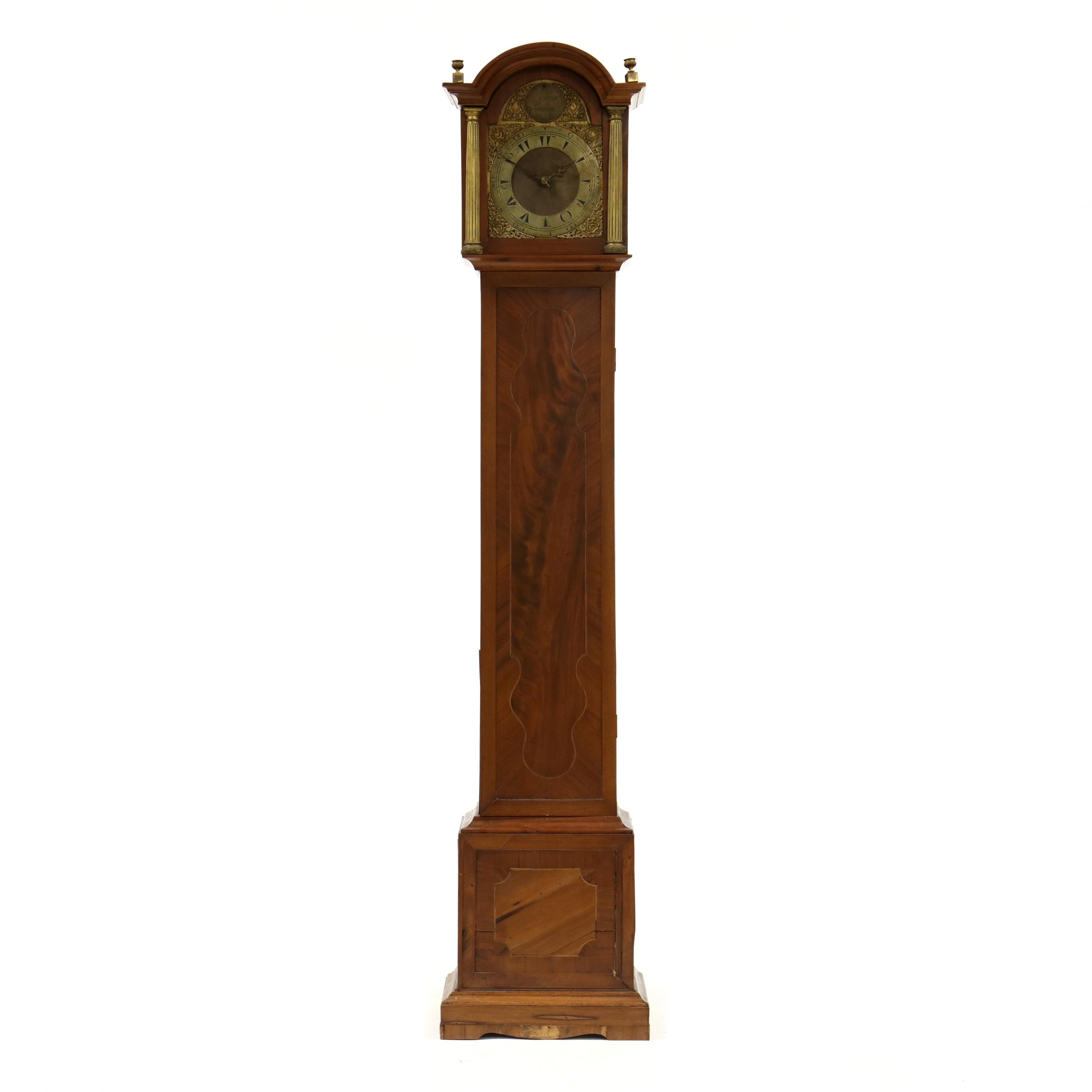 antique-english-inlaid-tall-case-clock