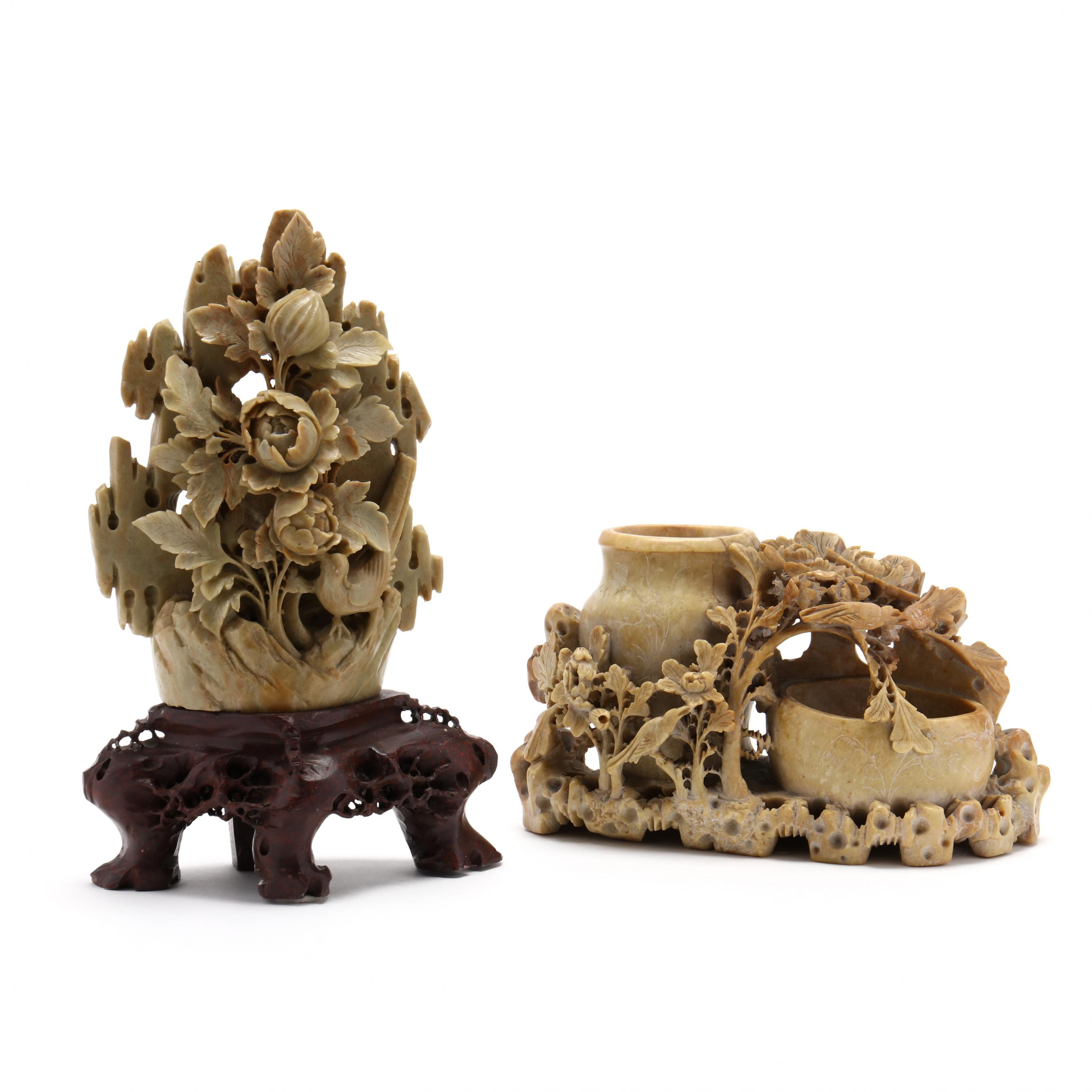two-chinese-soapstone-carvings