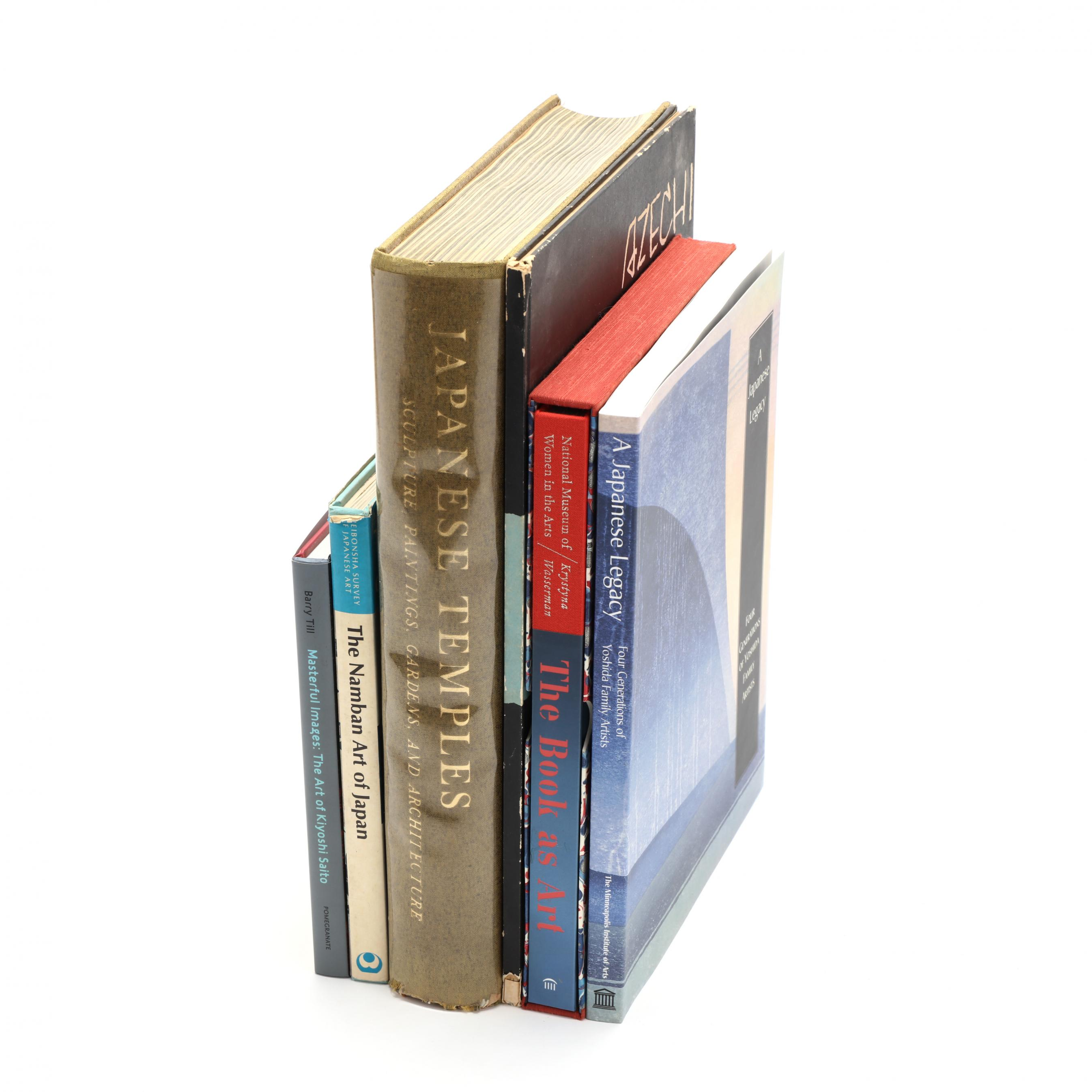 a-group-of-seven-japanese-art-reference-books