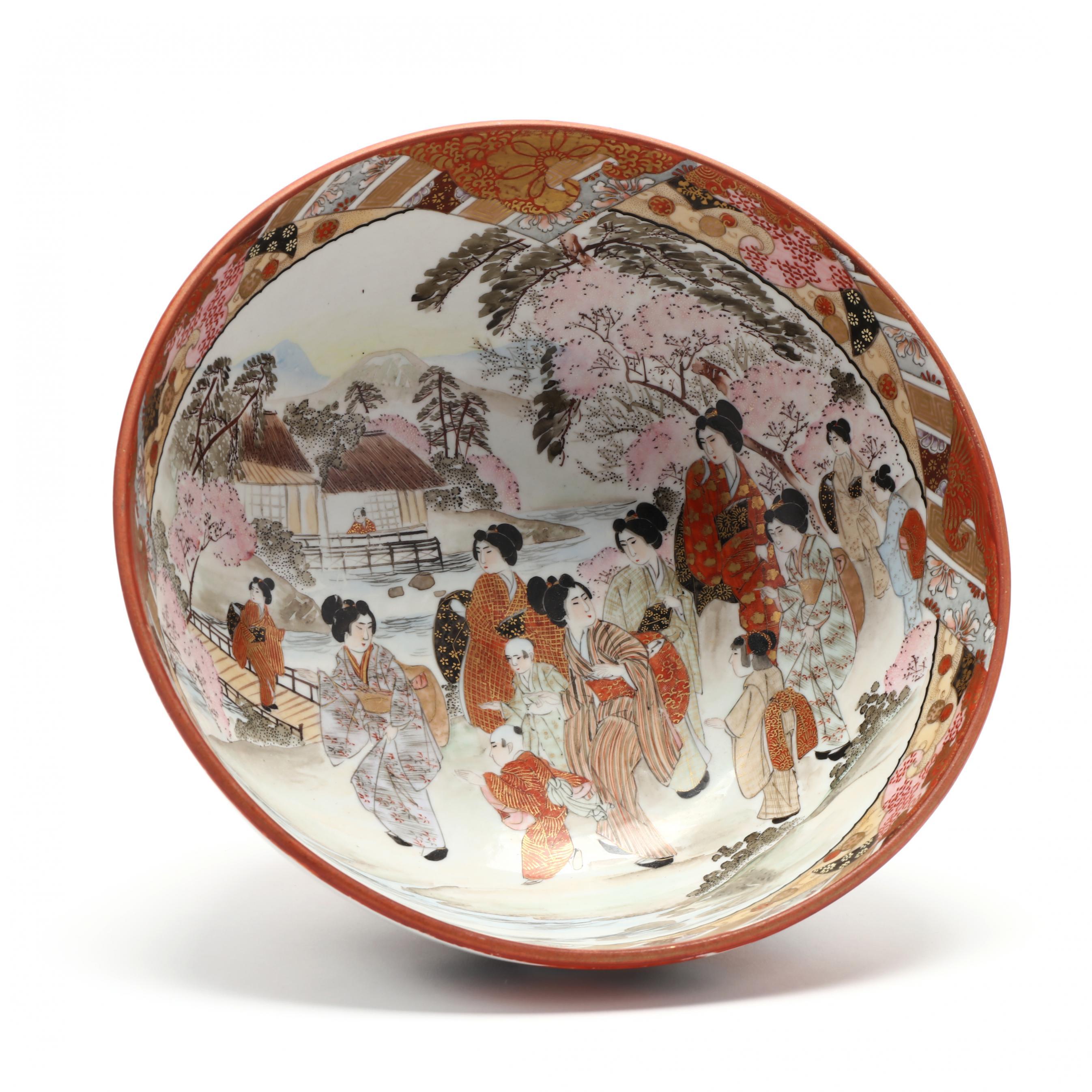 japanese-kutani-porcelain-punch-bowl