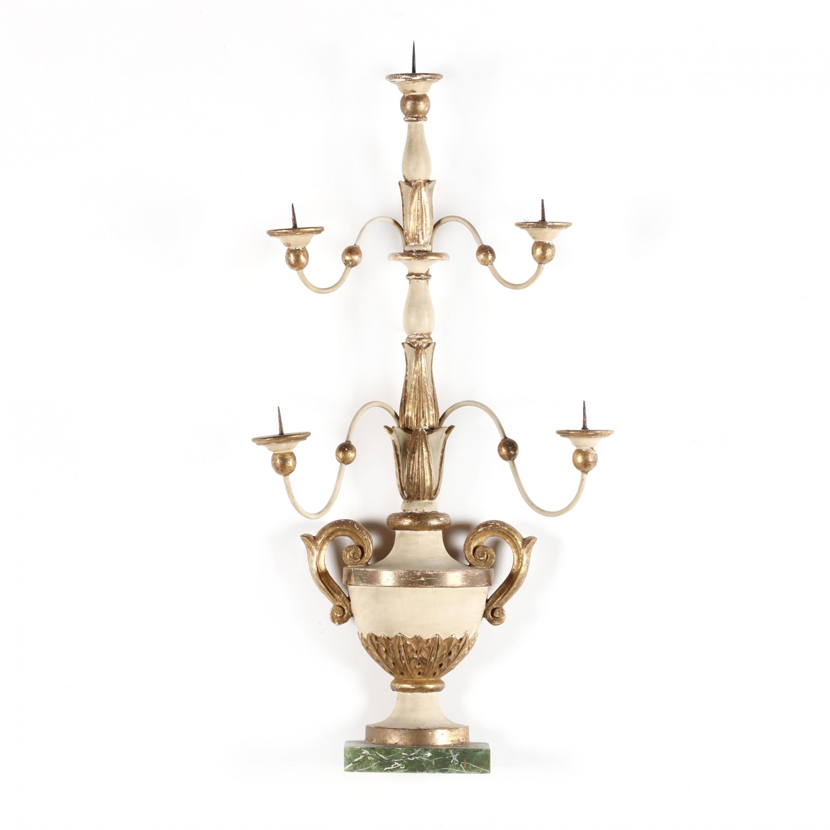 vintage-italian-carved-and-painted-mantel-candelabra