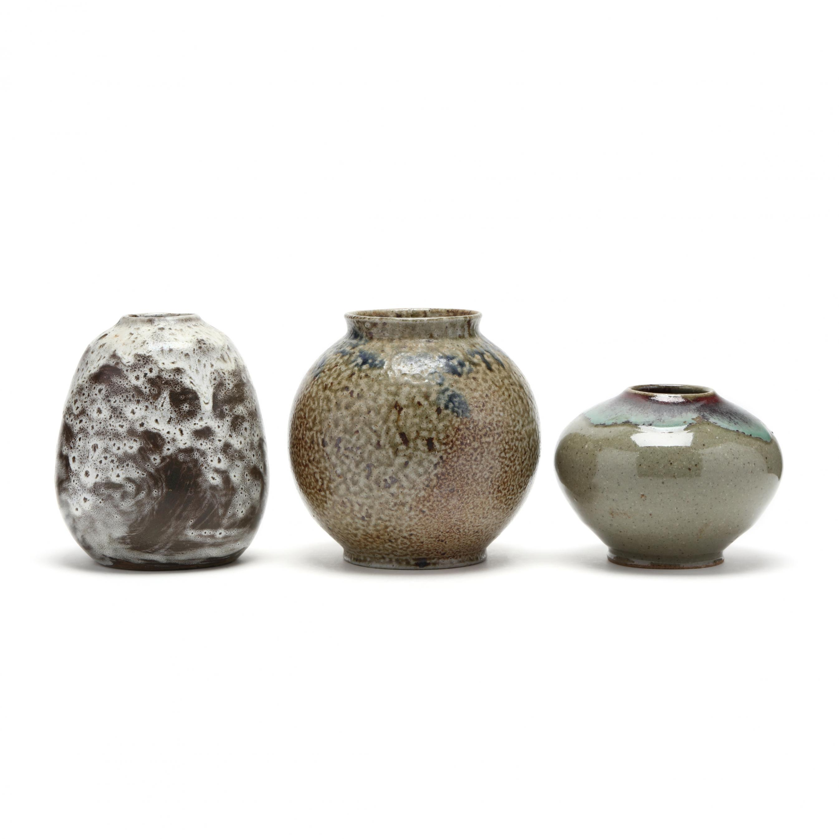 three-nc-pottery-vases-jugtown