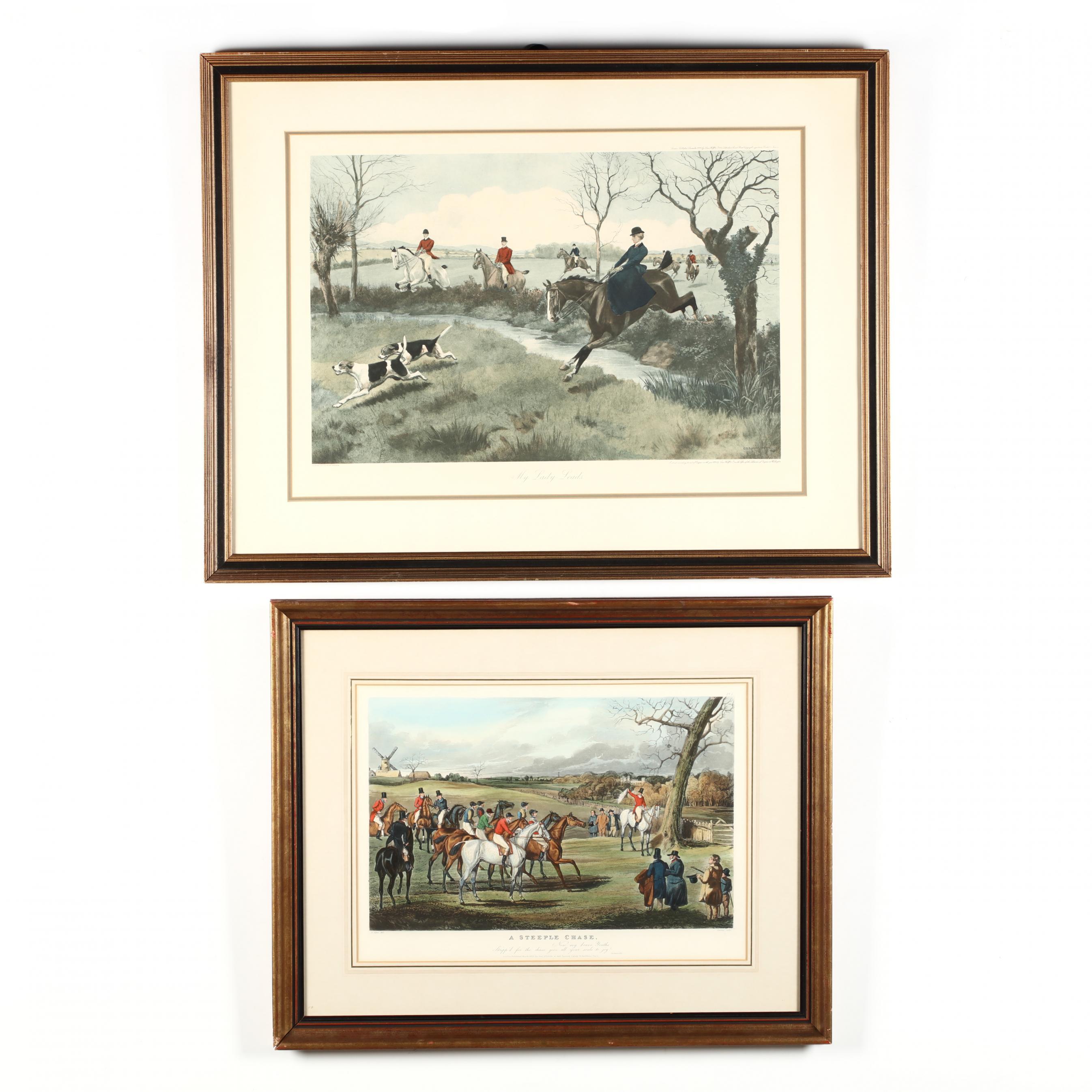 two-english-equestrian-prints