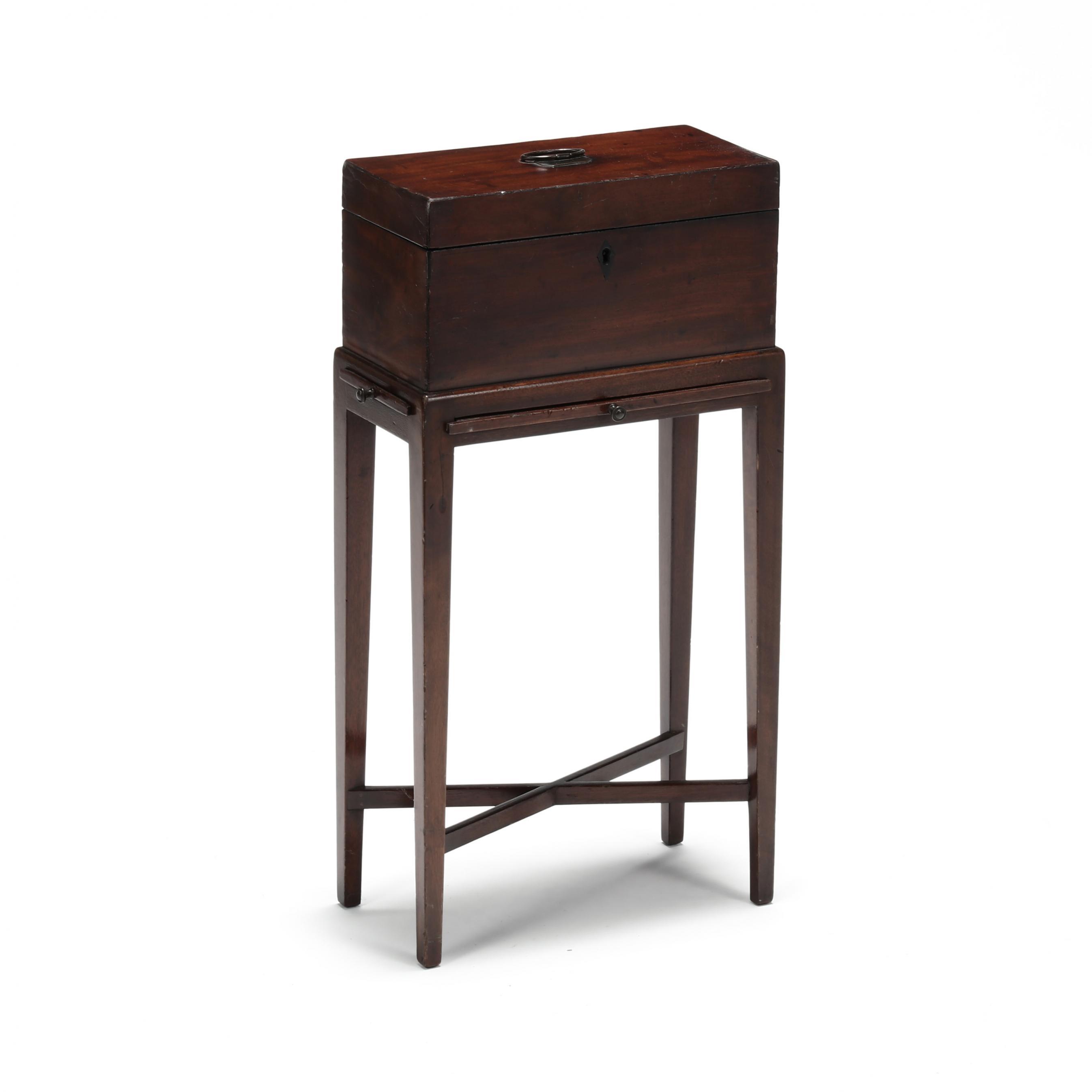 georgian-mahogany-tea-caddy-on-stand