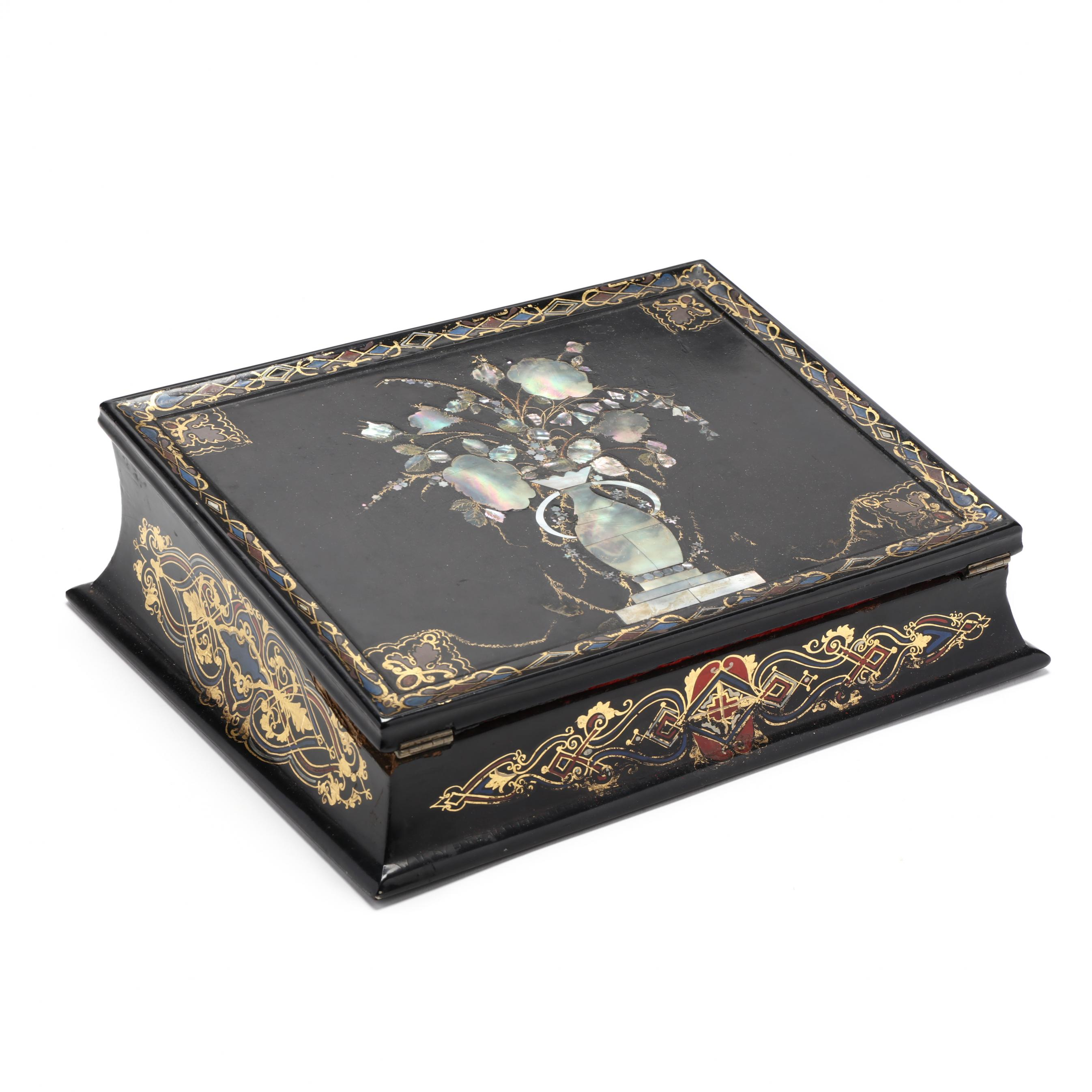 antique-english-mother-of-pearl-inlaid-writing-desk