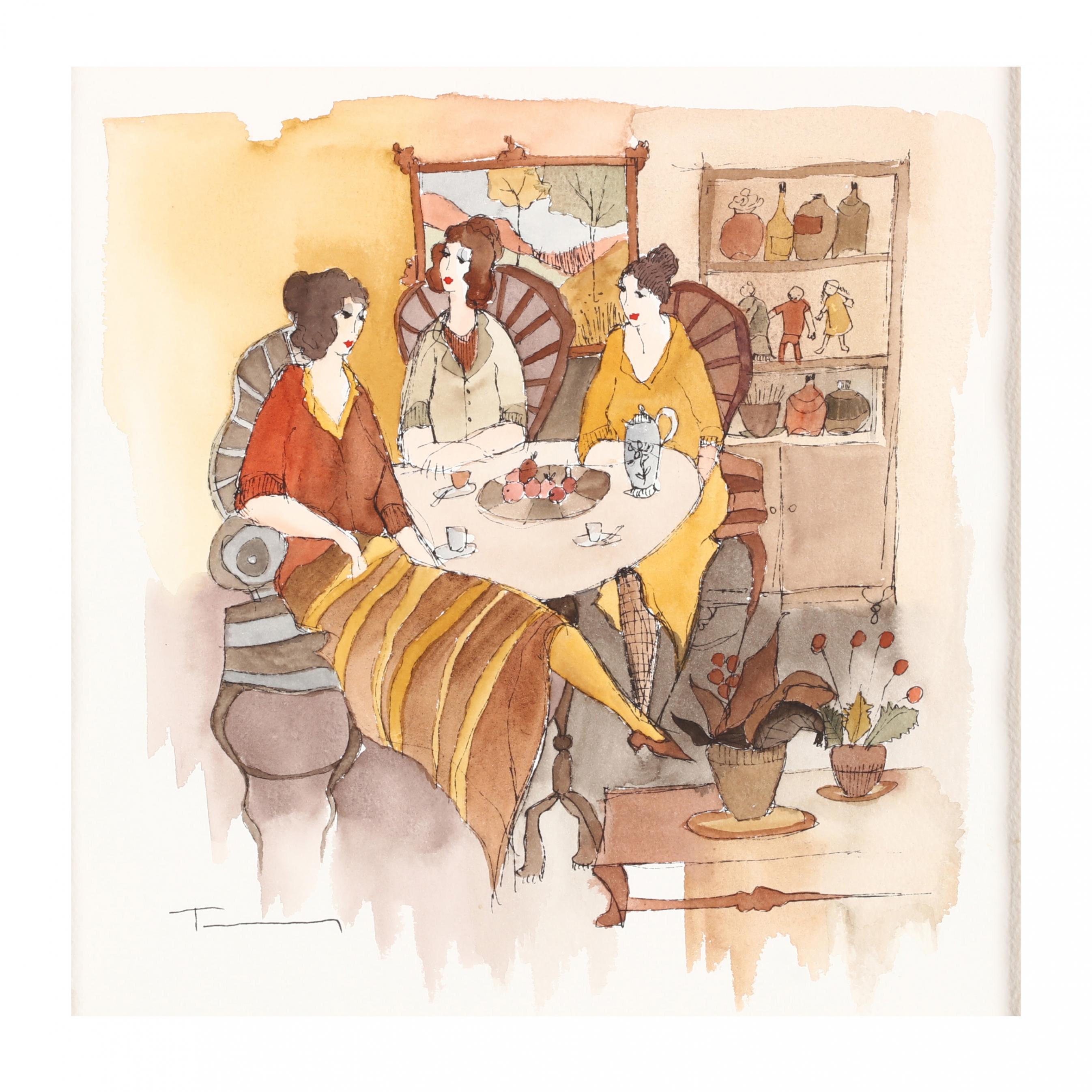 itzchak-tarkay-1935-2012-i-coffee-and-conversation-i