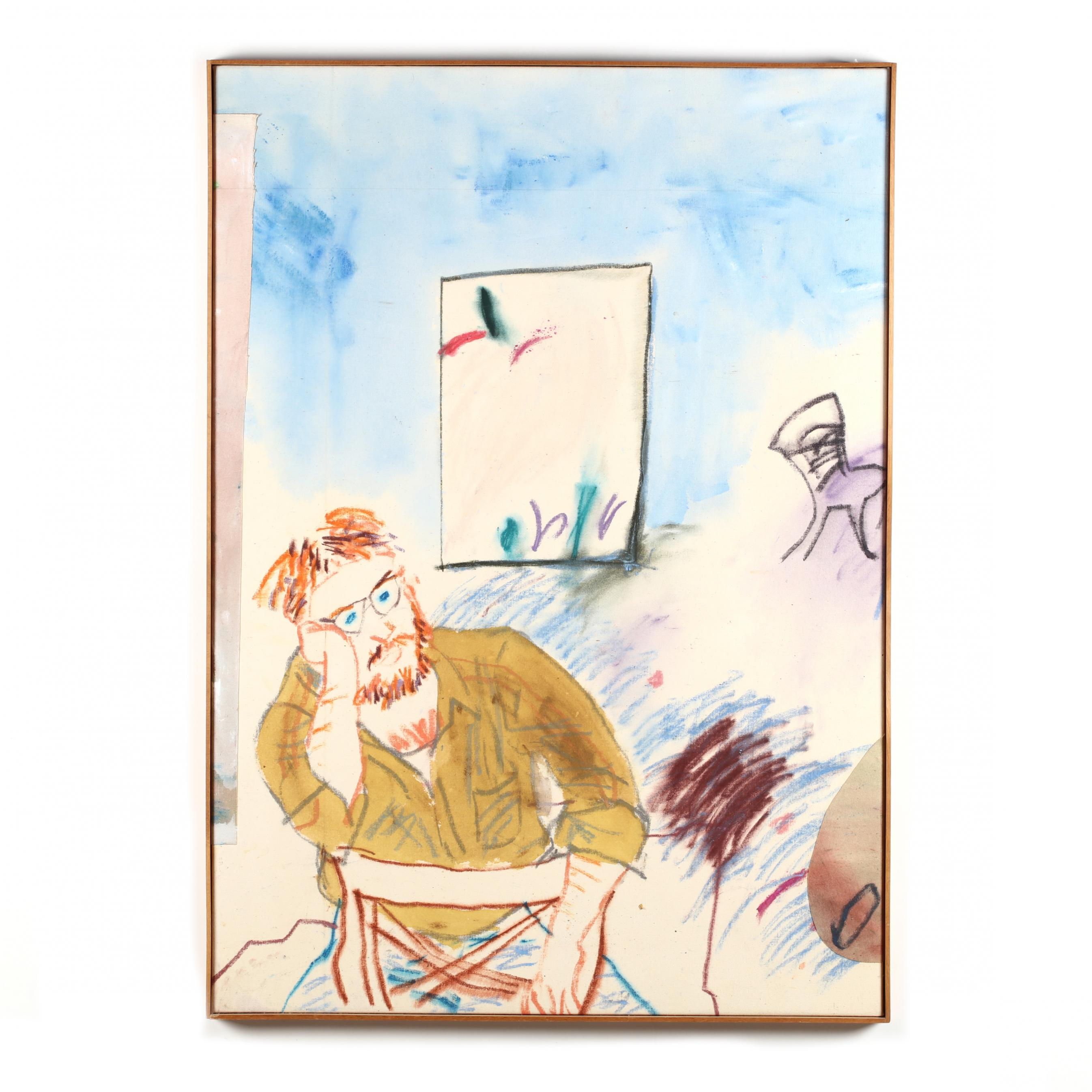andrew-hudson-d-c-b-1935-i-bill-astraddle-on-chair-with-painting-by-paul-fournier-i