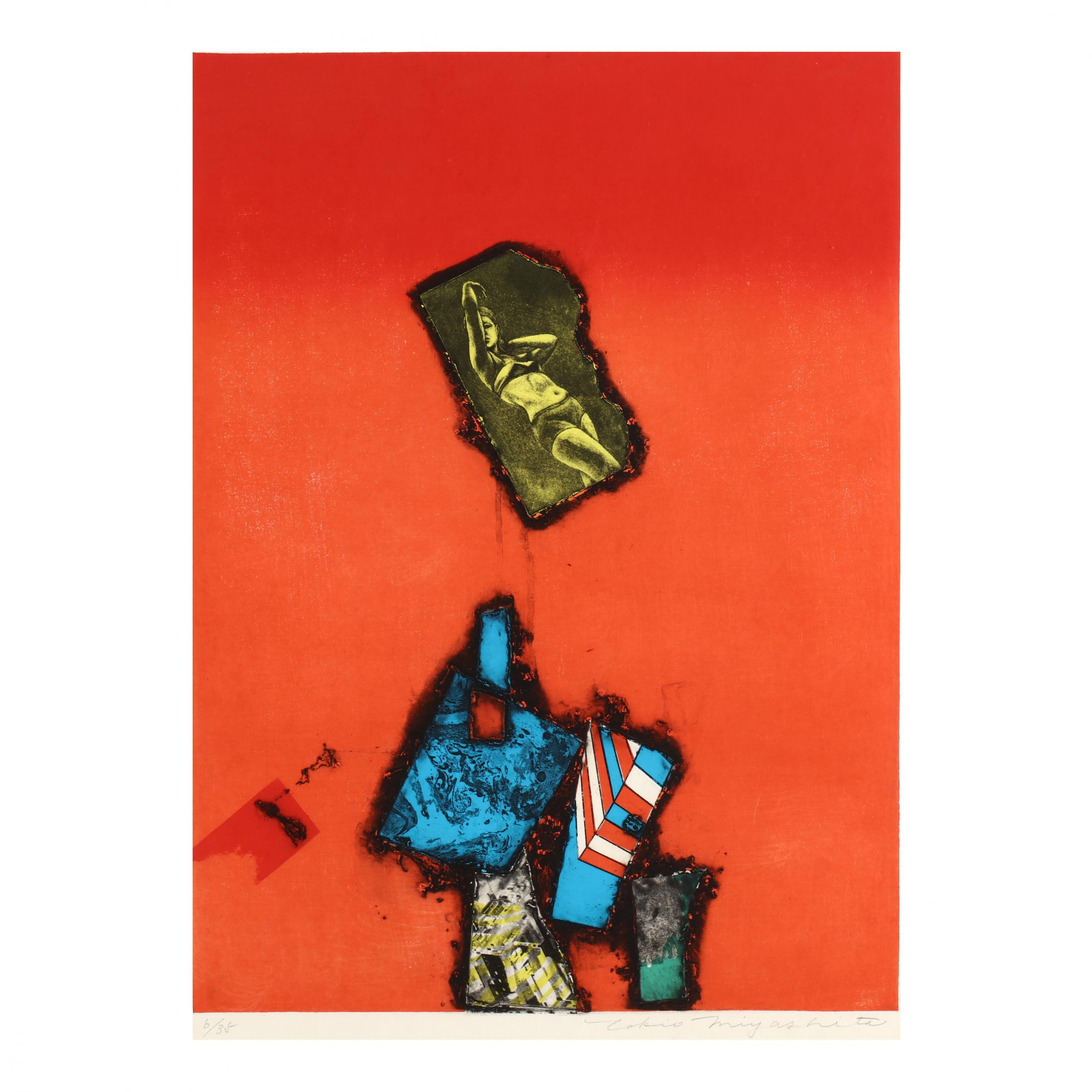 tokio-miyashita-japanese-1930-2011-red-abstract-woodblock-print