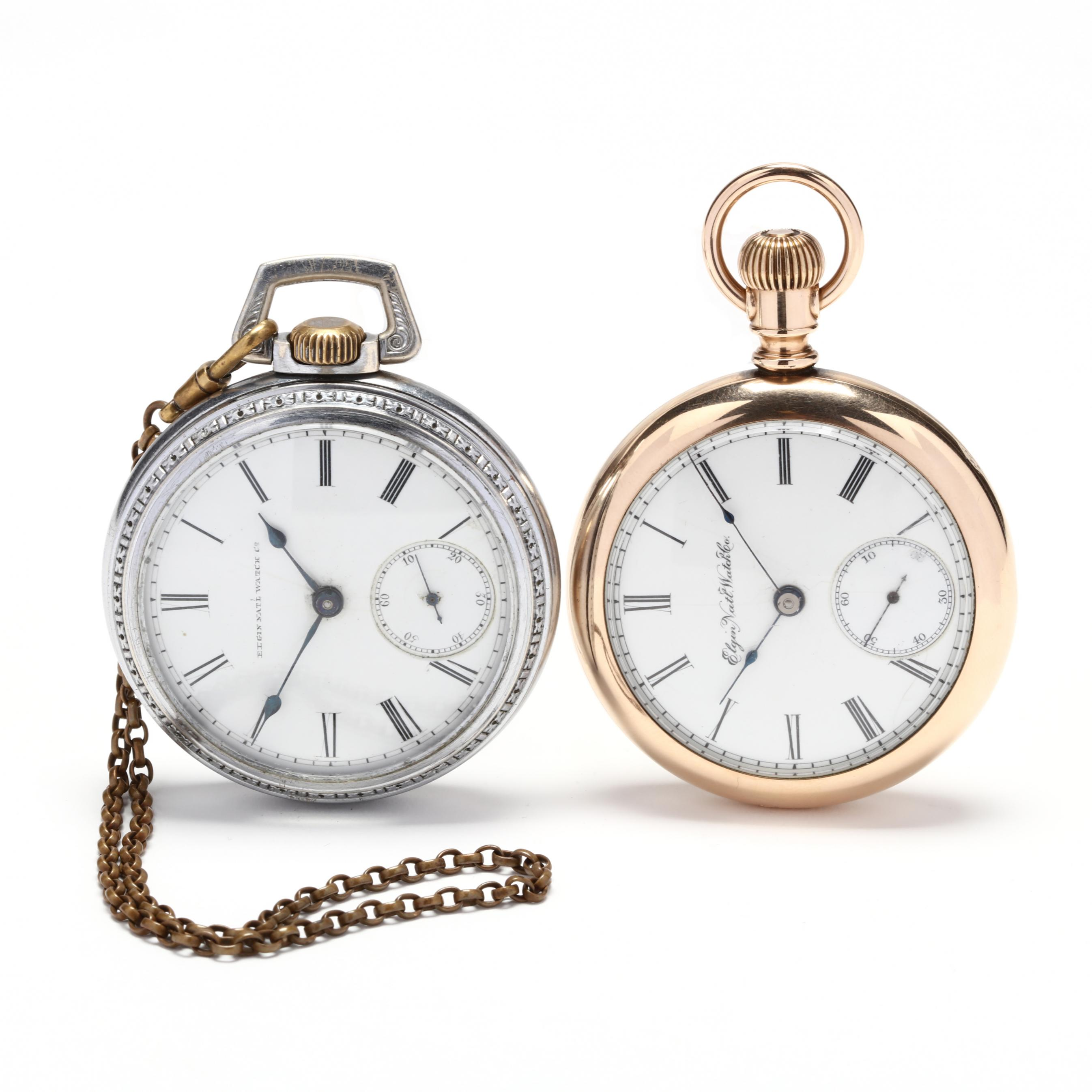 two-antique-open-face-pocket-watches-elgin