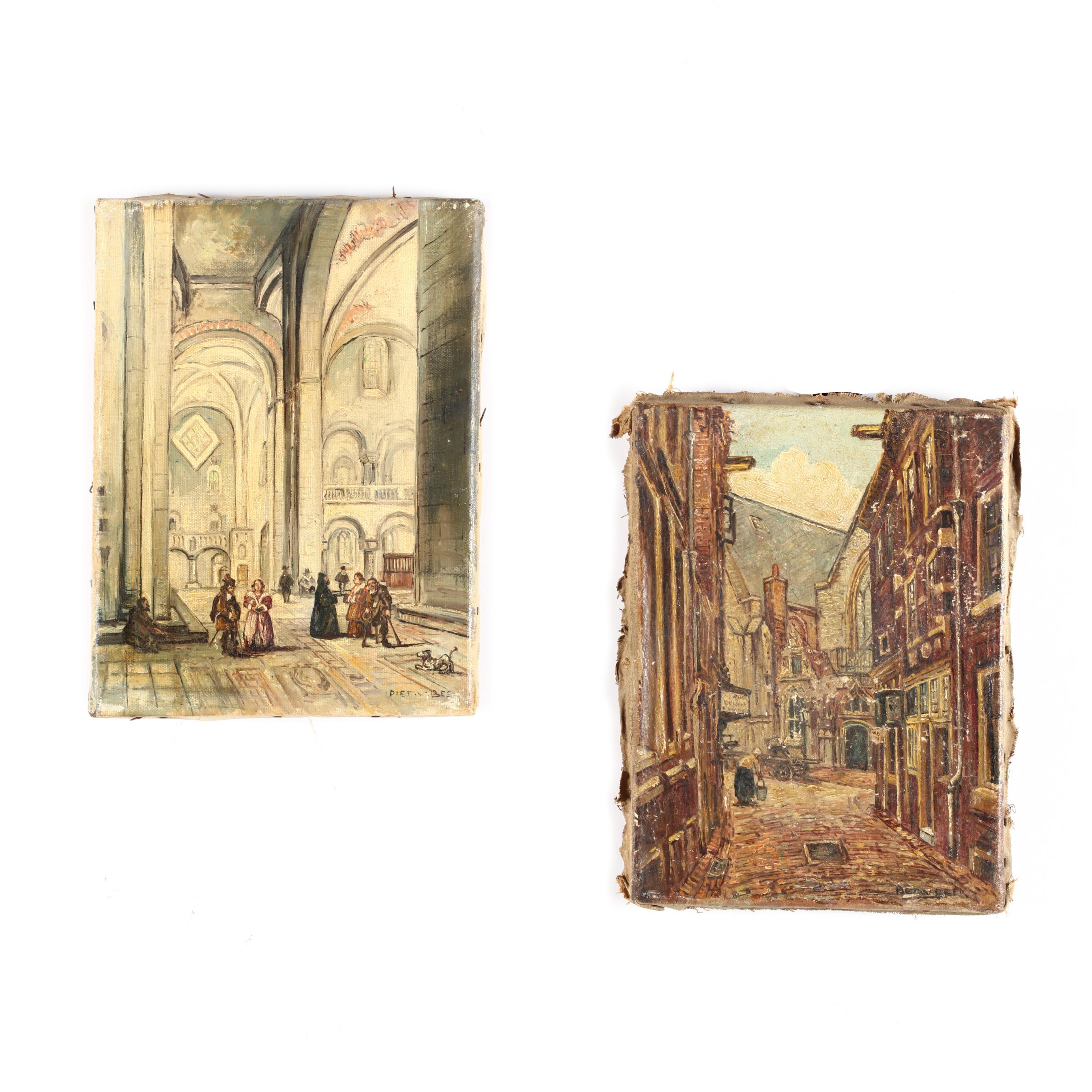 piet-van-beek-dutch-20th-century-two-vintage-paintings