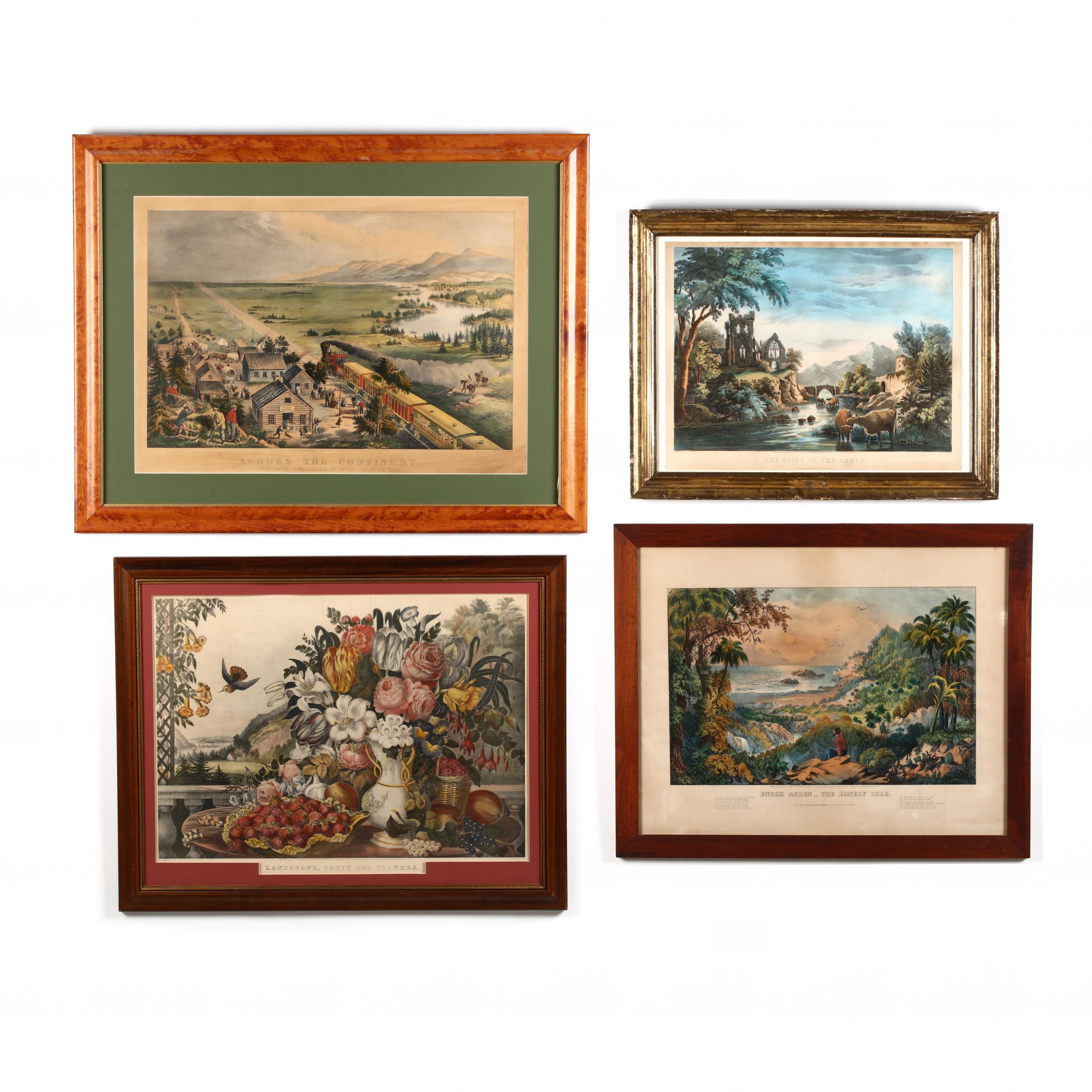 four-large-currier-ives-scenes