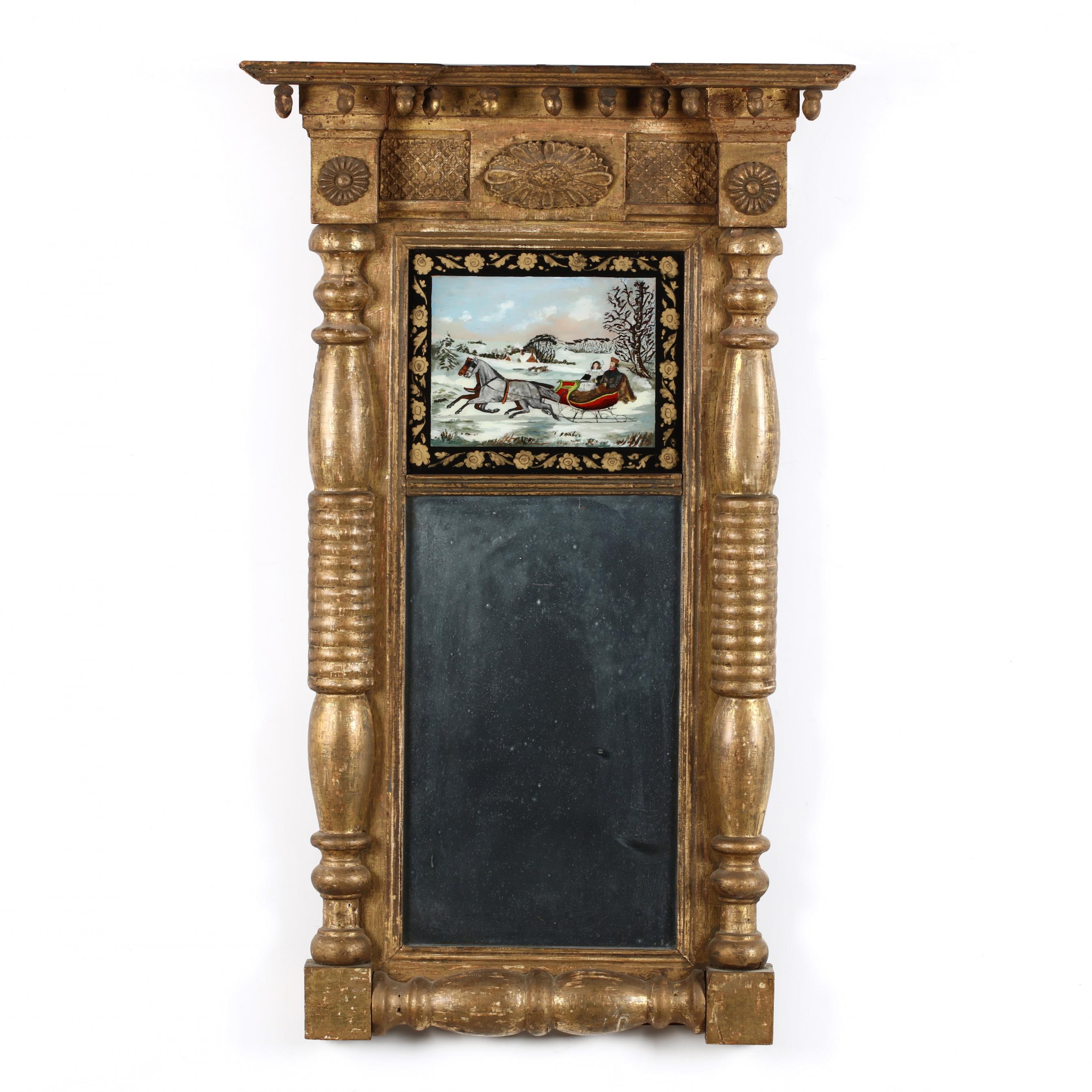 american-classical-eglomise-mirror-with-painted-victorian-sled-scene